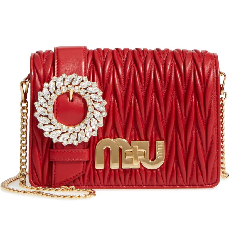 Miu Miu Matelassé Leather Shoulder Bag  9af87061a15c5