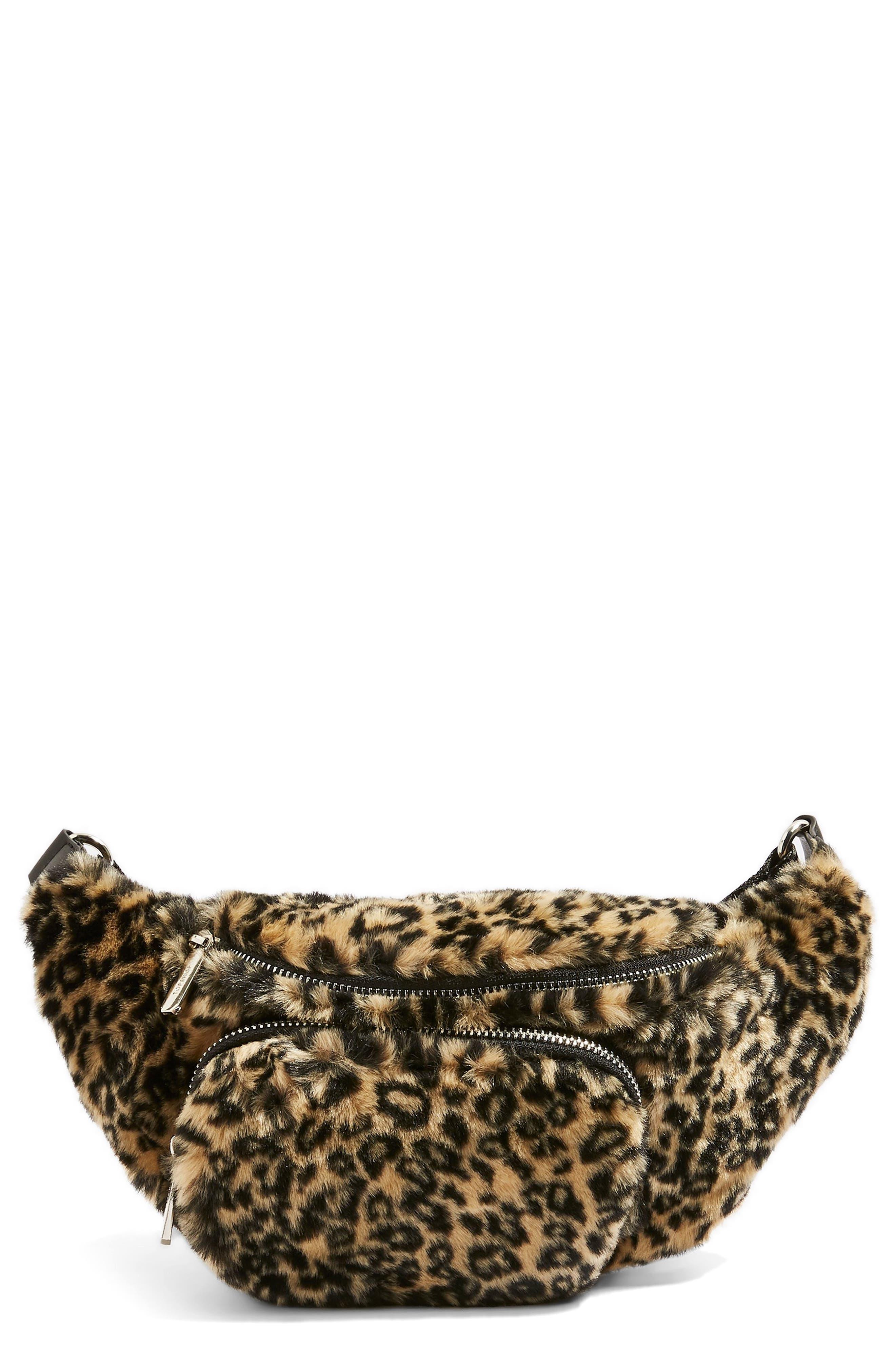 Baxter Leopard Belt Bag, Main, color, 211