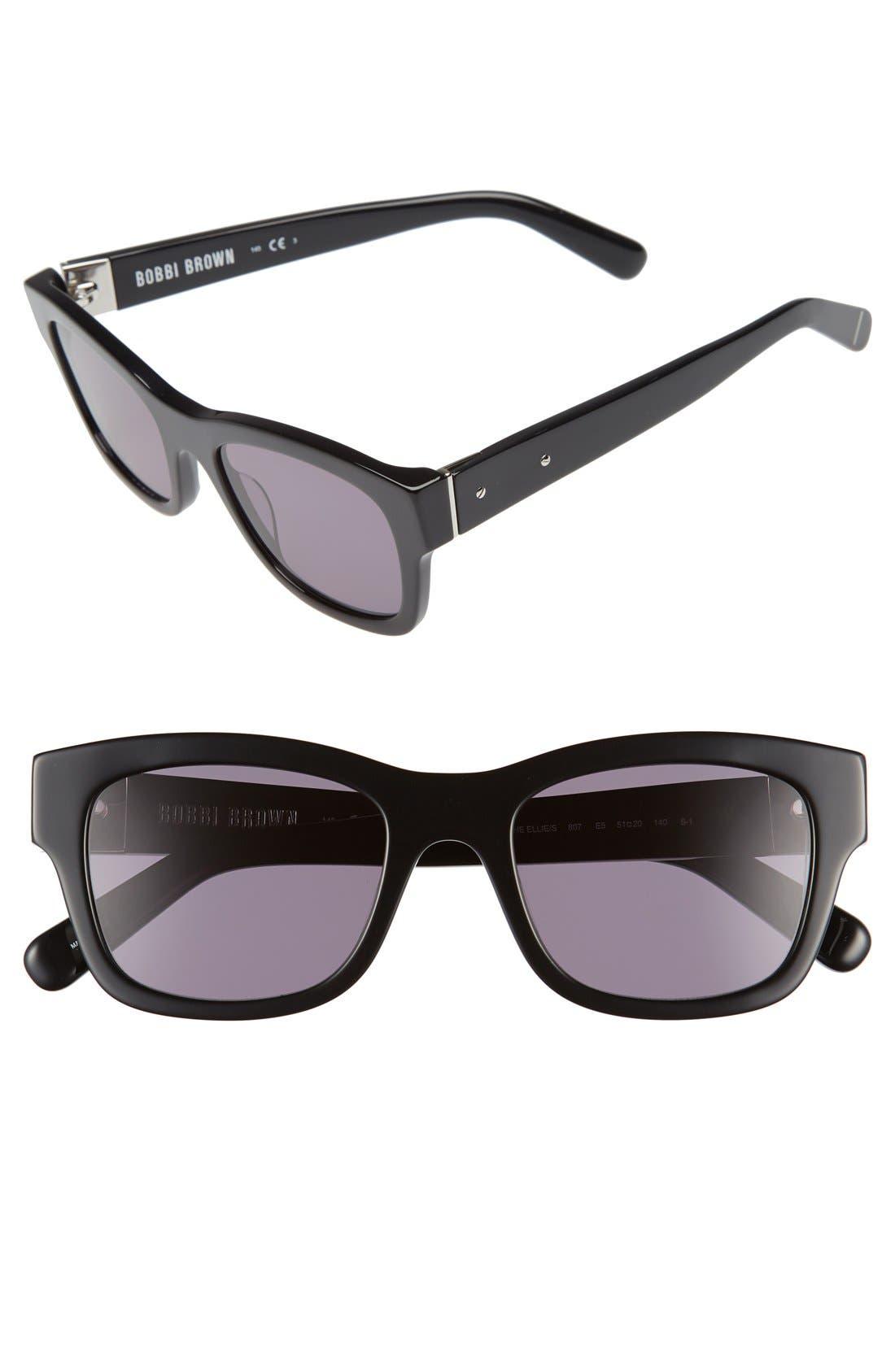 'The Ellie' 51mm Sunglasses,                             Main thumbnail 1, color,                             001