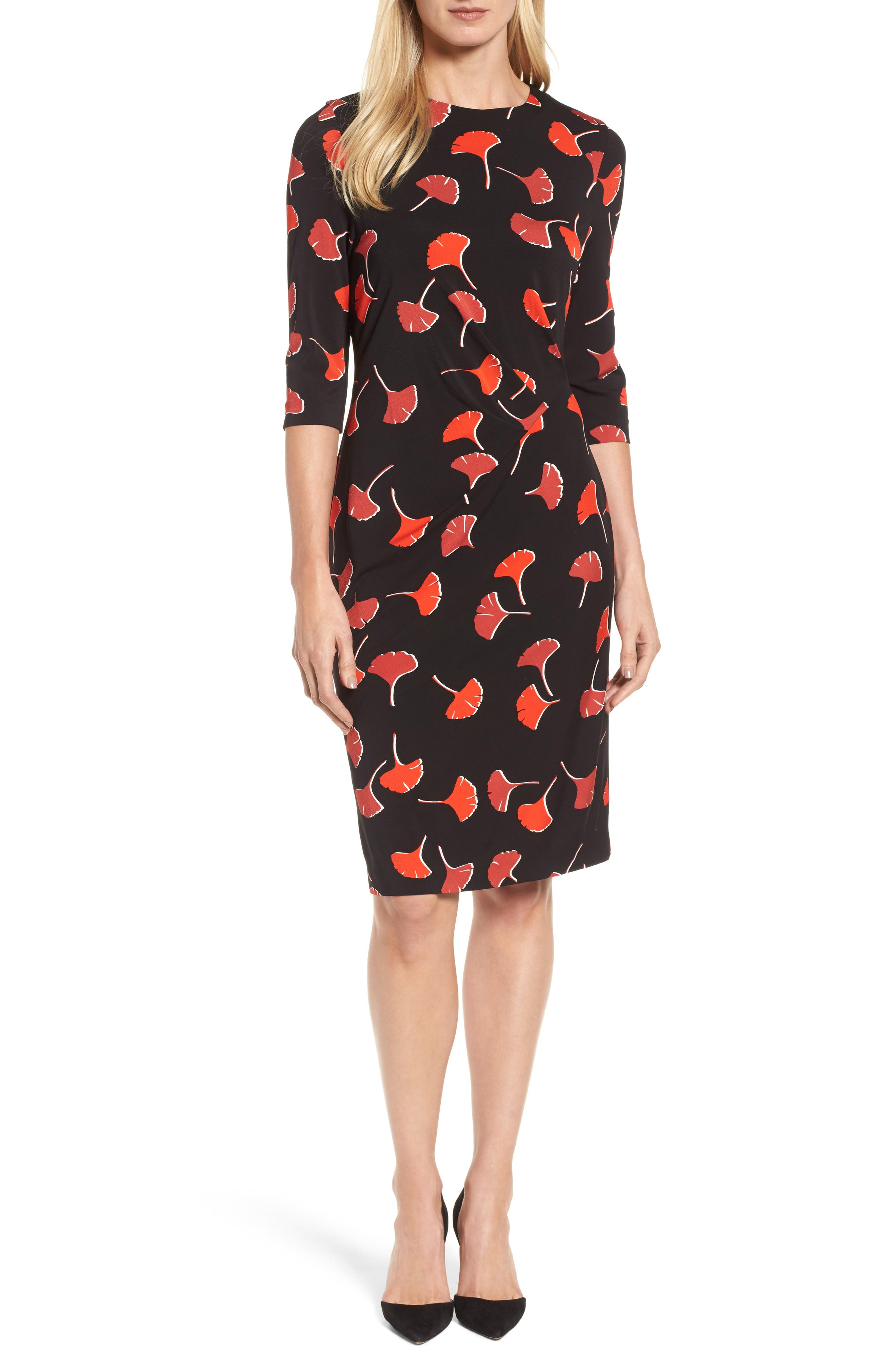 Eseona Print Sheath Dress,                             Main thumbnail 1, color,                             005