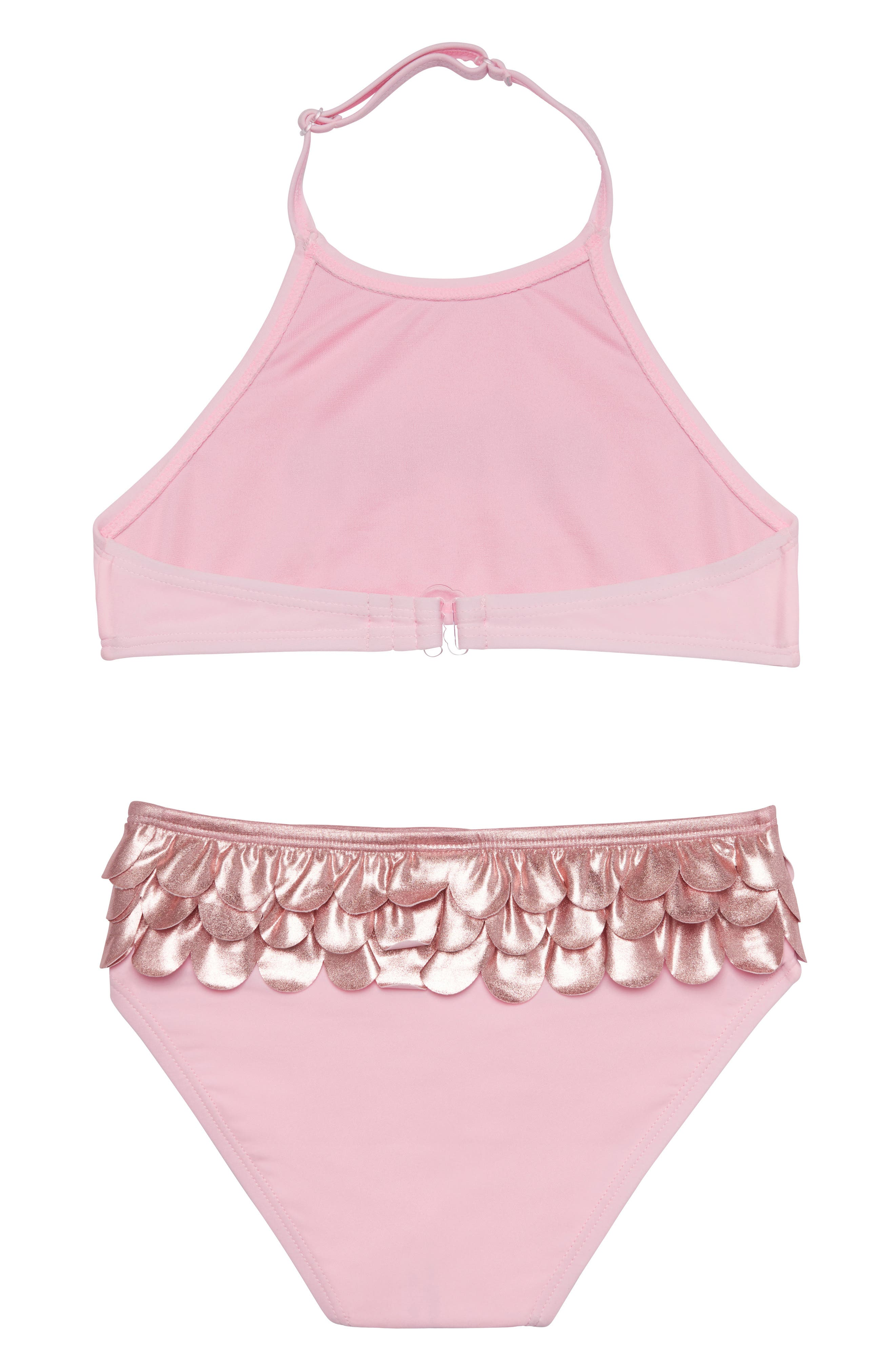 Mermaid Life Two-Piece Swimsuit,                             Alternate thumbnail 2, color,                             ROSE