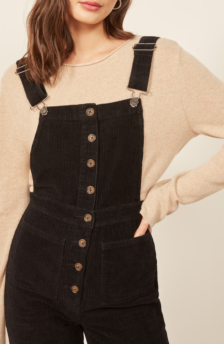 8d30ca61b3f0 Shop Reformation Cassidy Corduroy Overalls In Black