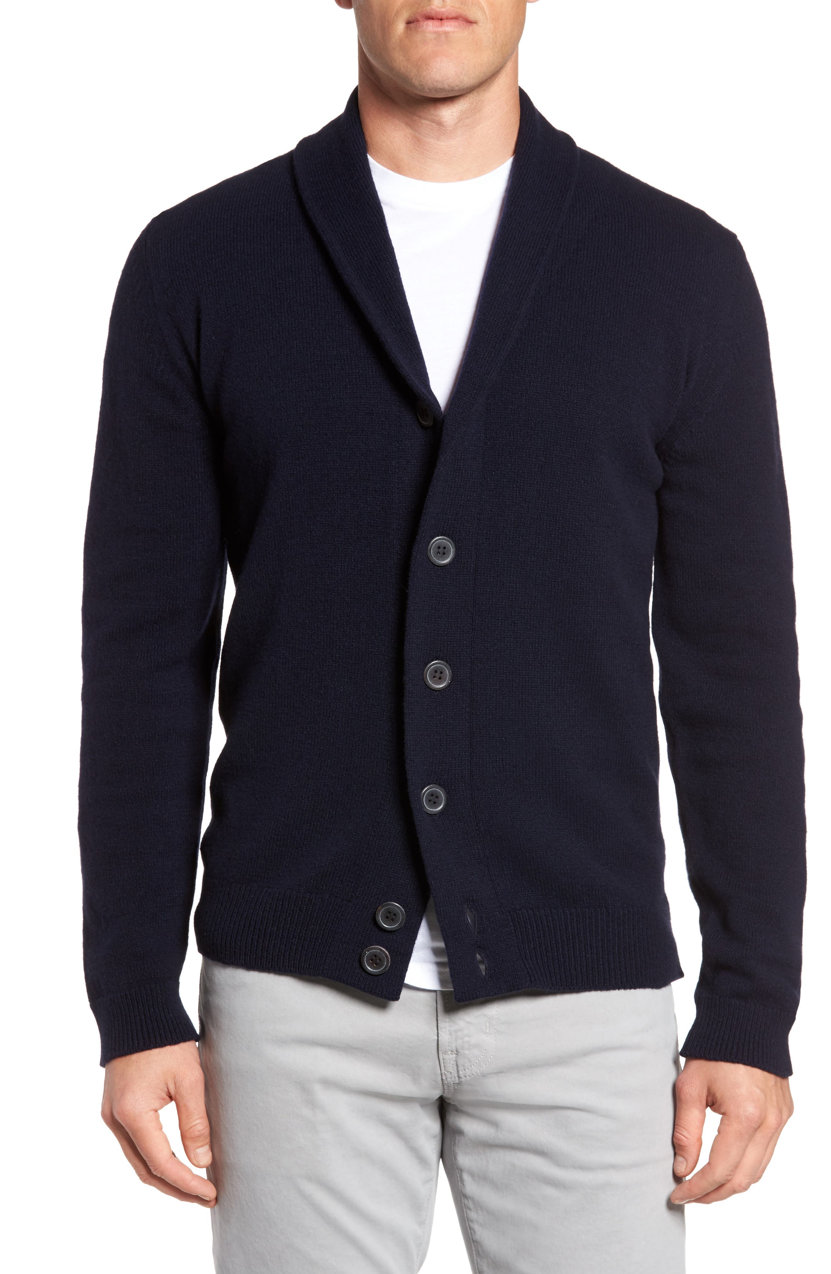 Slim Fit Merino Wool & Cashmere Cardigan,                             Main thumbnail 2, color,