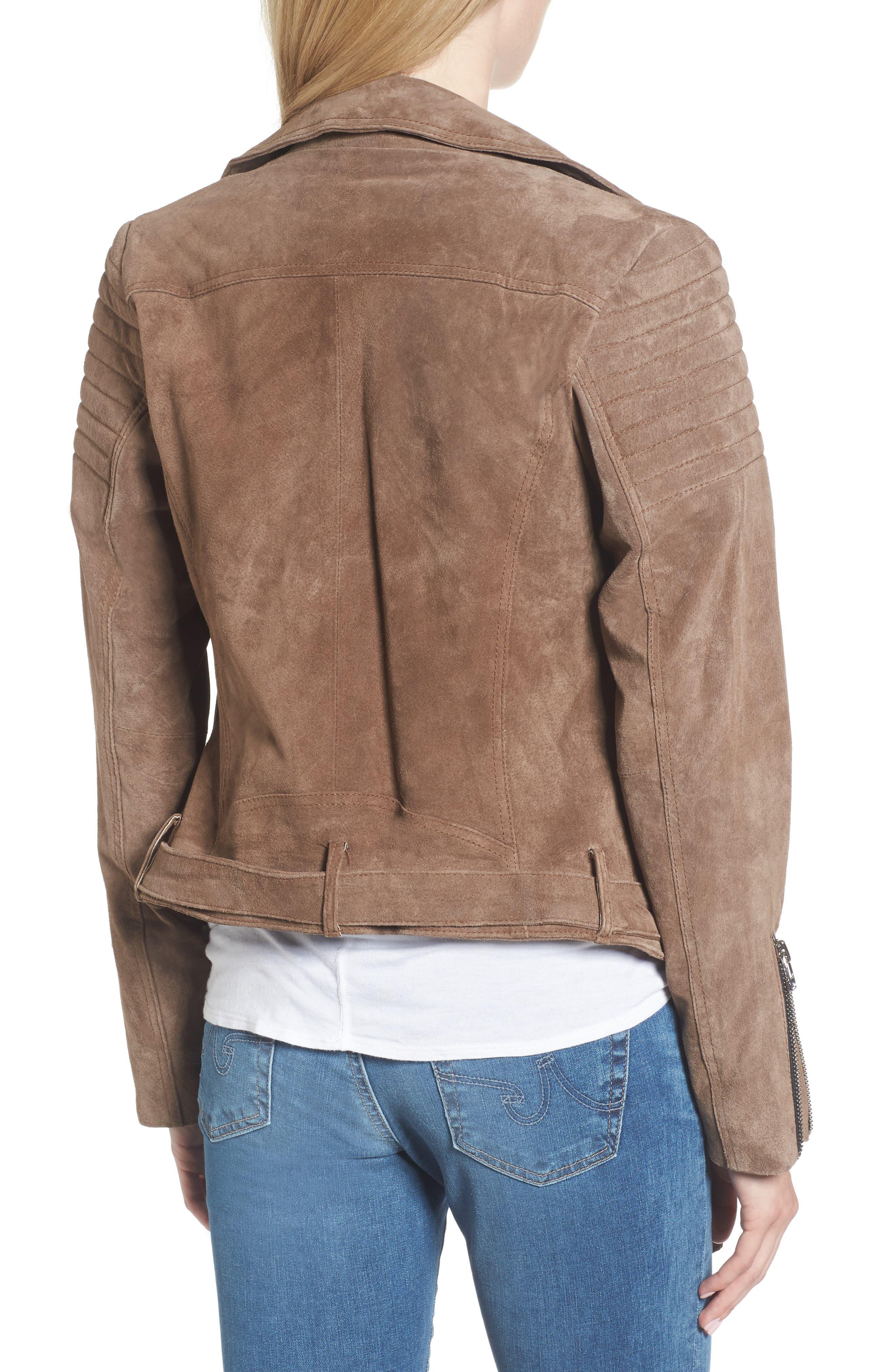 Suede Moto Jacket,                             Alternate thumbnail 2, color,                             250