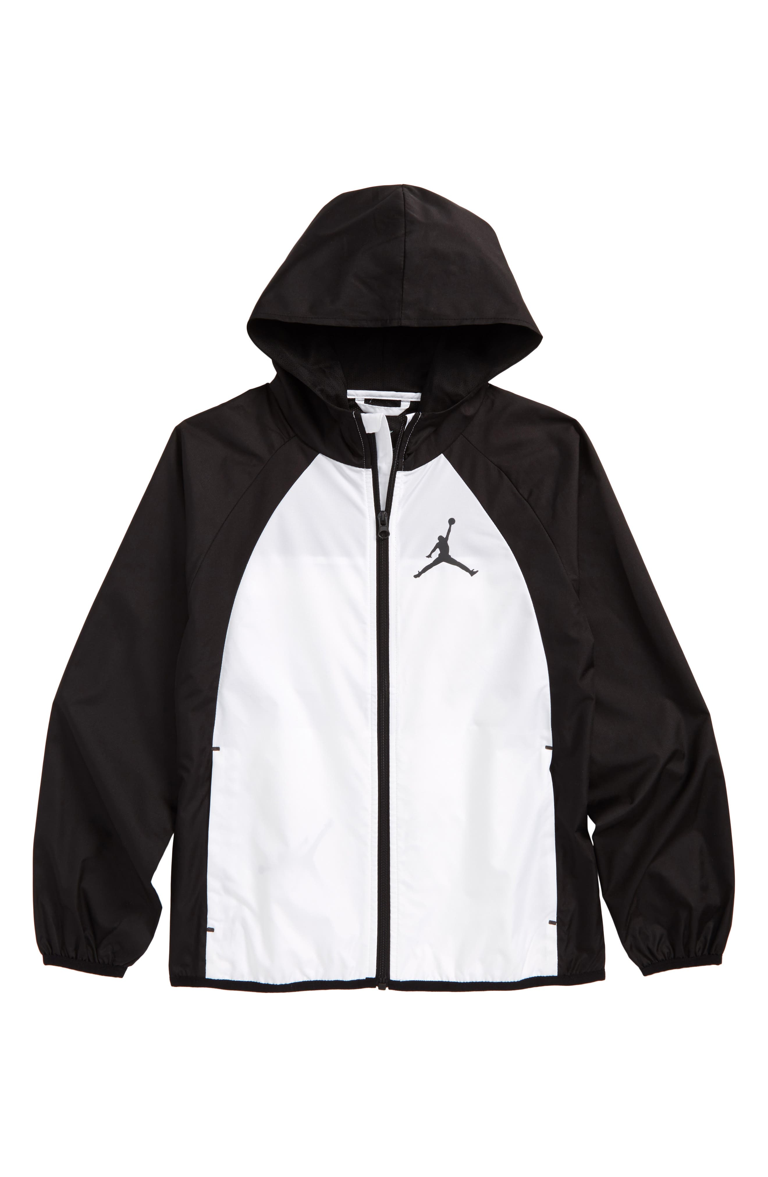 Jordan Packable Zip Hoodie Wingsbreaker,                             Main thumbnail 1, color,                             001