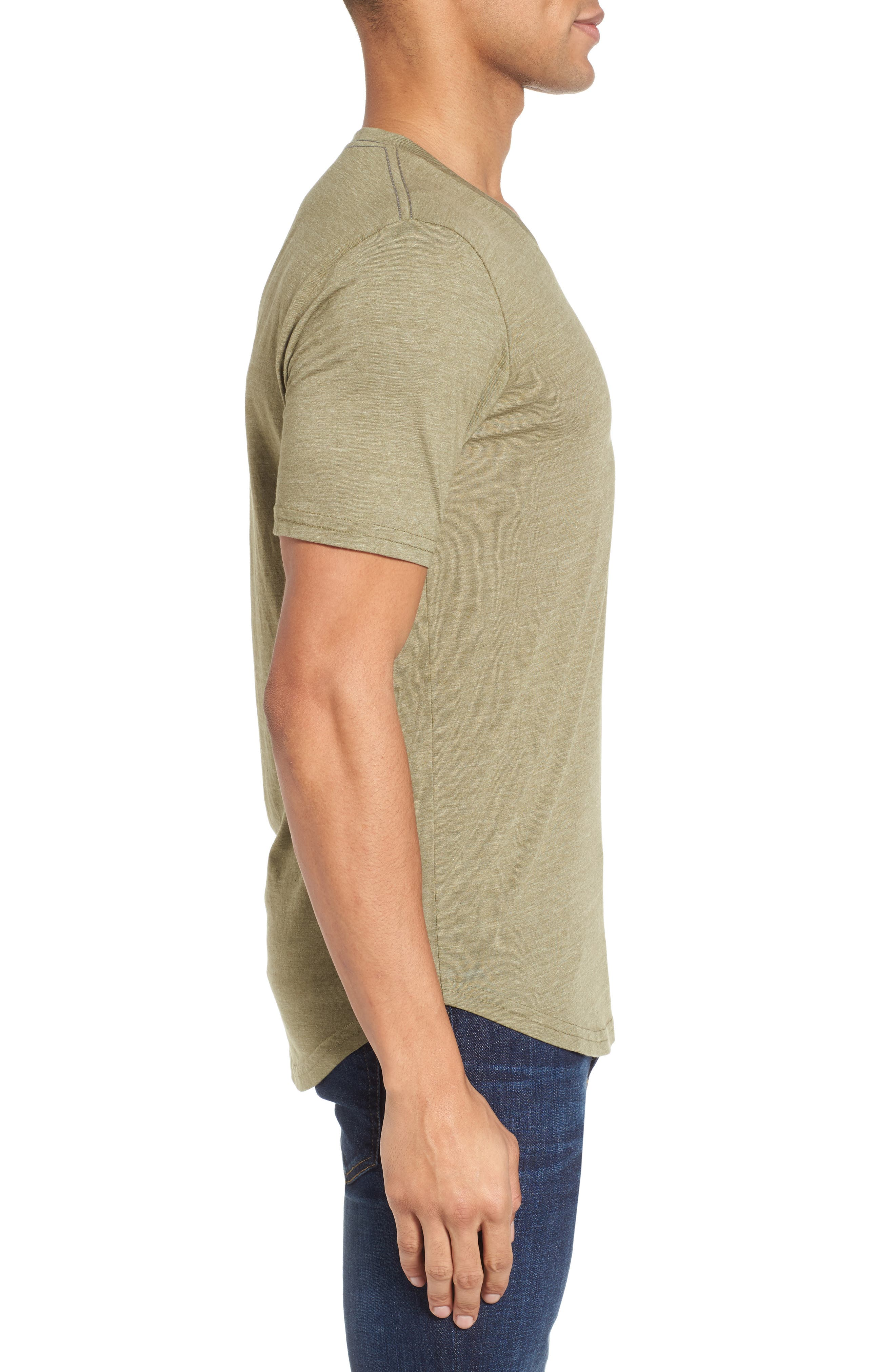 Scallop Triblend V-Neck T-Shirt,                             Alternate thumbnail 49, color,