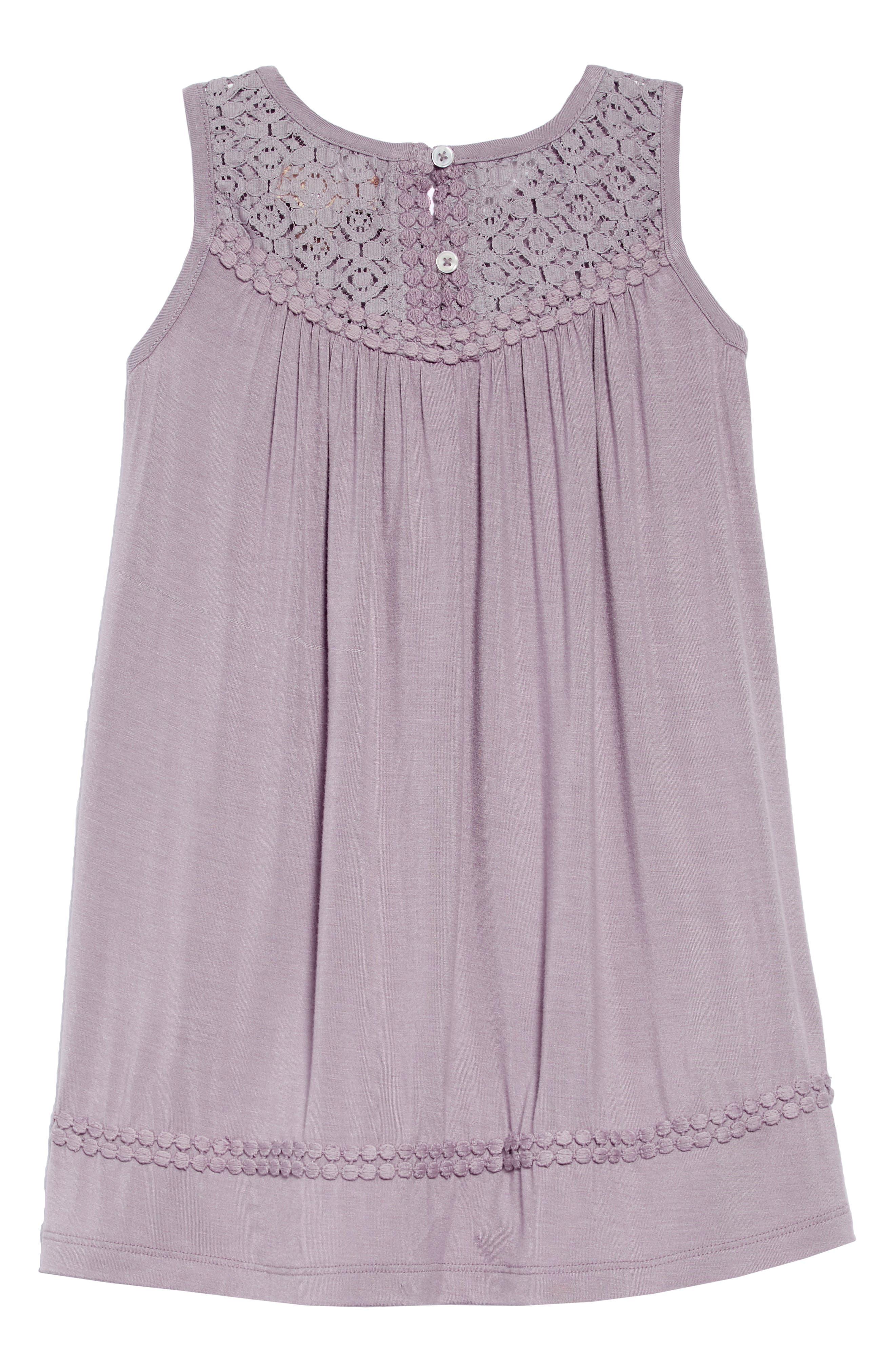 Annie Lace Trim Dress,                             Alternate thumbnail 2, color,                             060