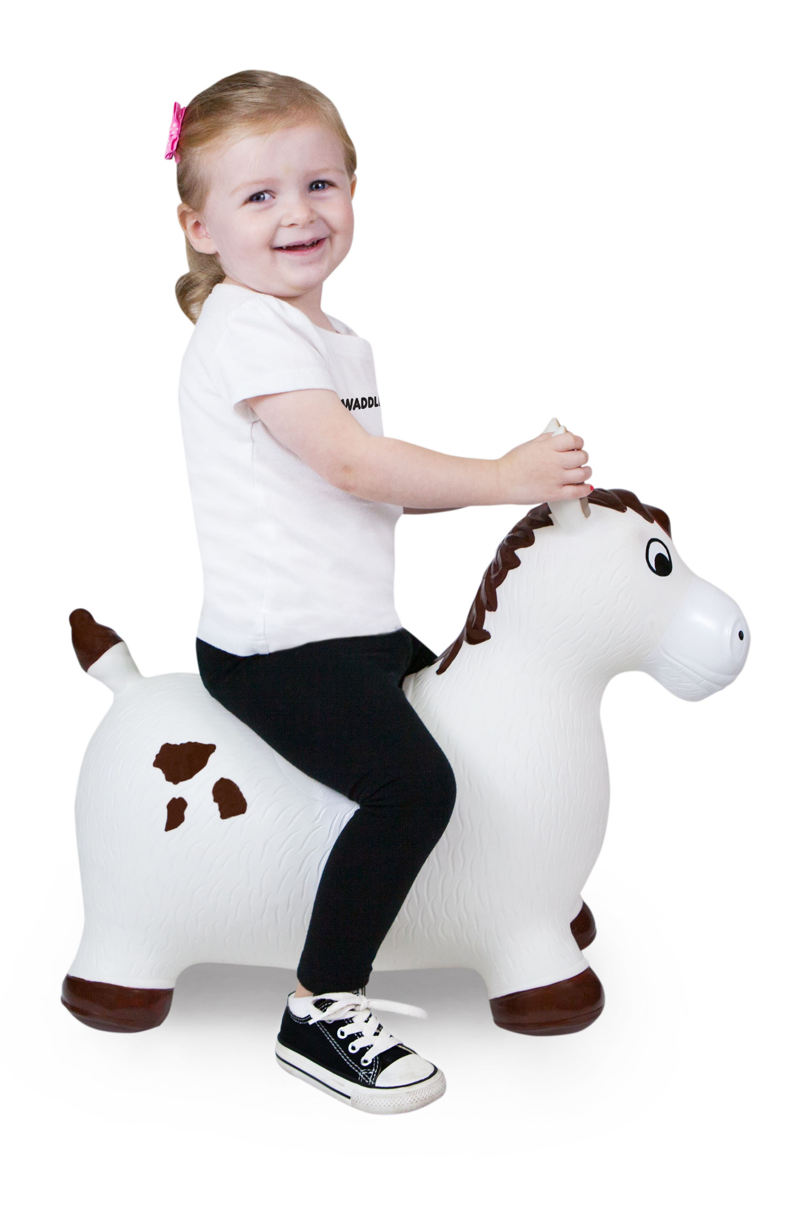 Lucky Bouncy Ride-On Horse Toy,                             Alternate thumbnail 4, color,                             WHITE/ BROWN