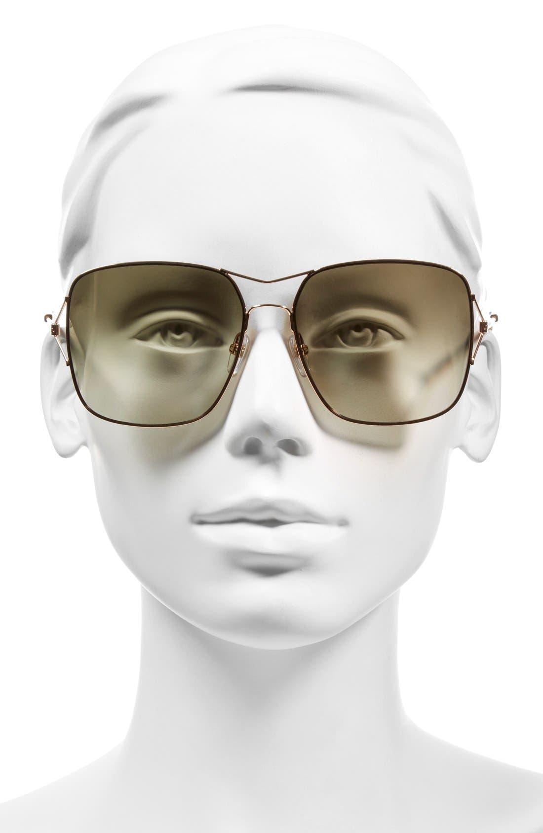 58mm Sunglasses,                             Alternate thumbnail 6, color,