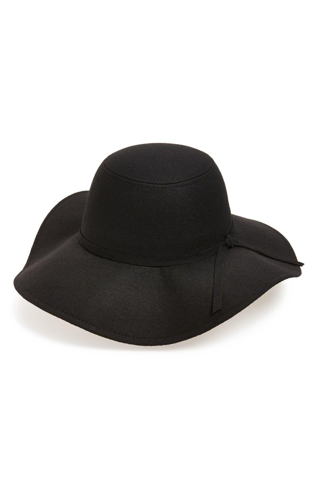 Floppy Felt Hat,                             Main thumbnail 7, color,