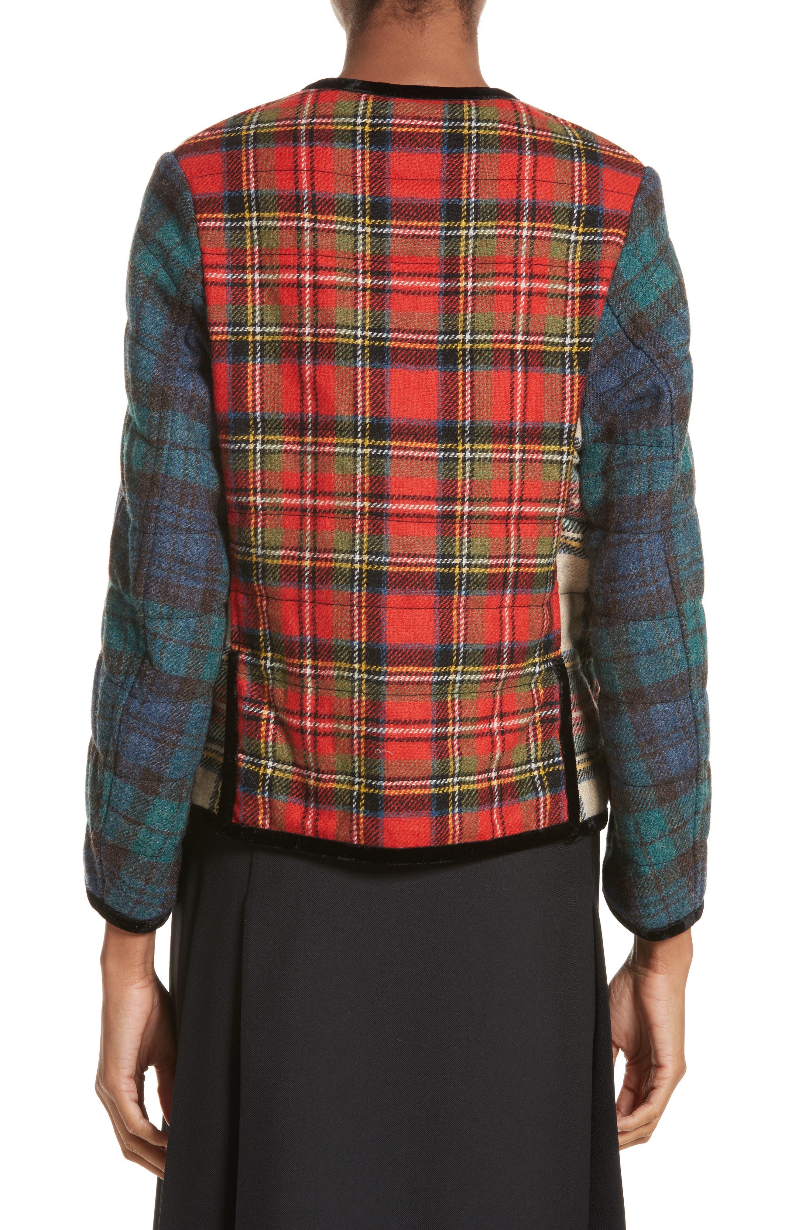 Mixed Tartan Wool Jacket,                             Alternate thumbnail 2, color,                             960