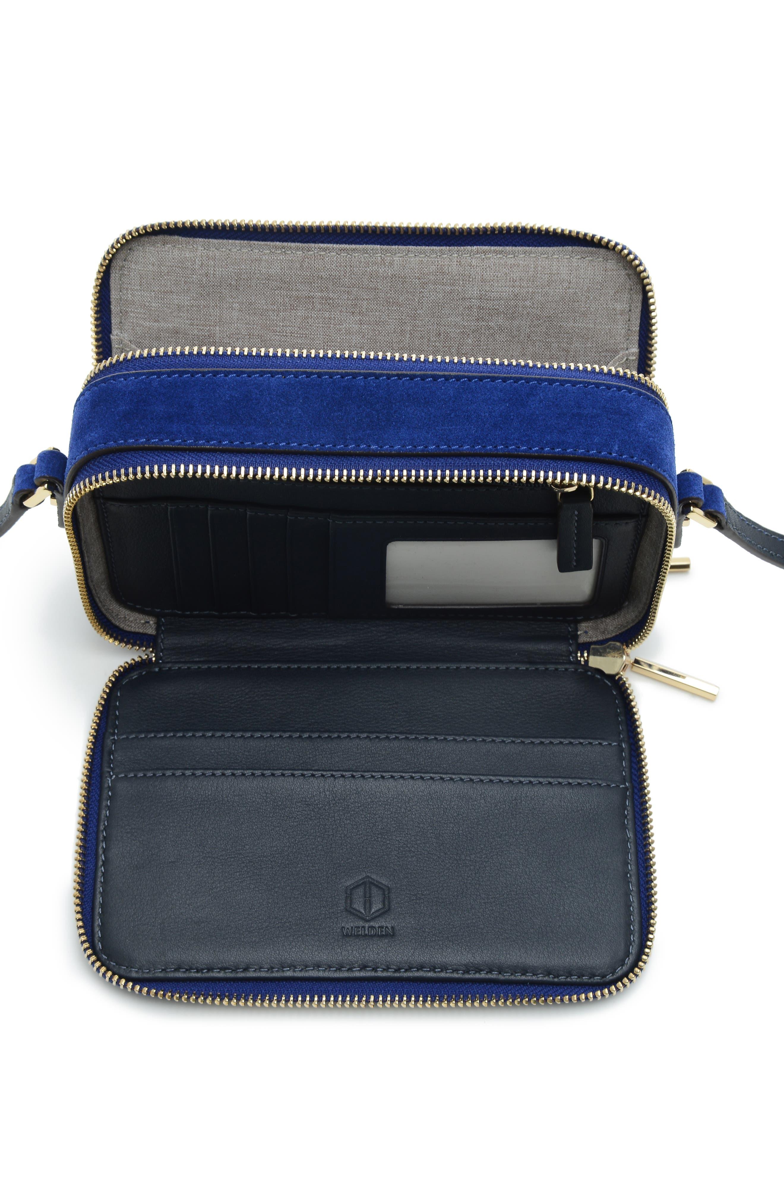 Roam Suede Camera Bag,                             Alternate thumbnail 4, color,                             400