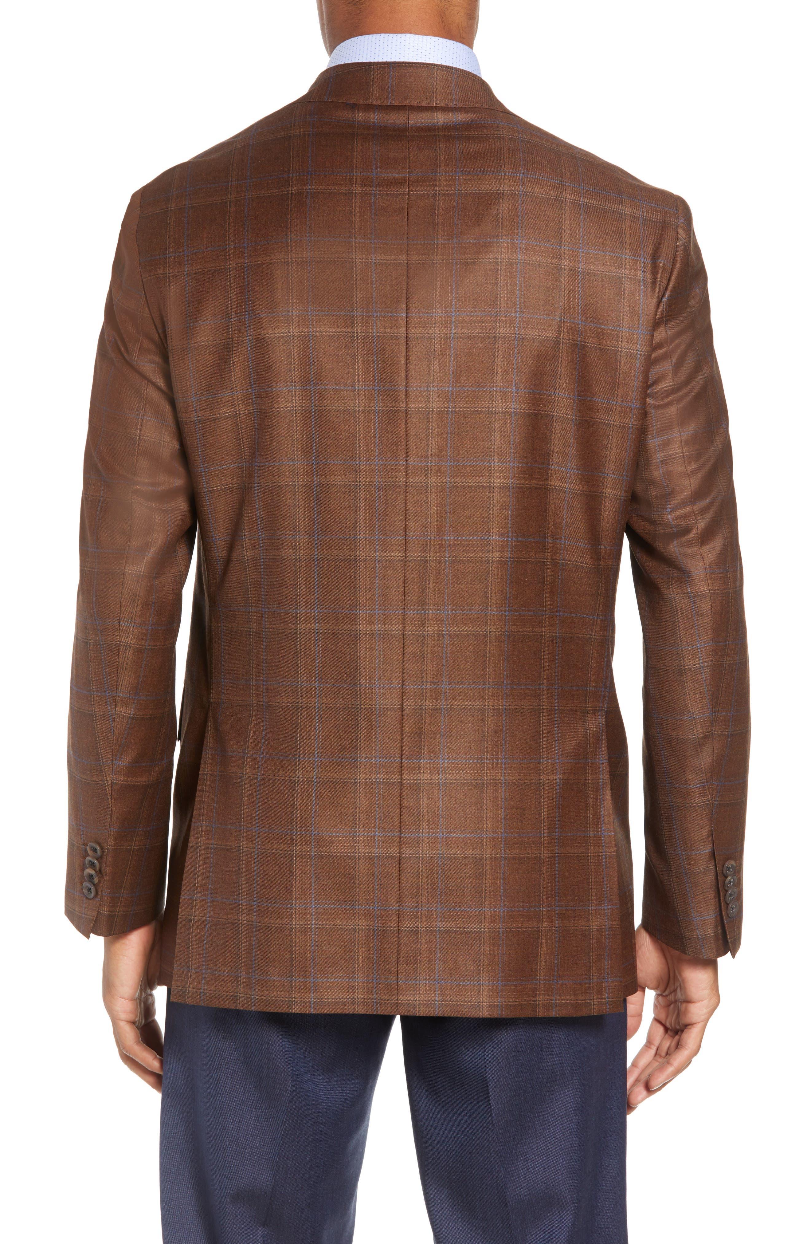 Arnold Classic Fit Plaid Wool Sport Coat,                             Alternate thumbnail 2, color,                             200