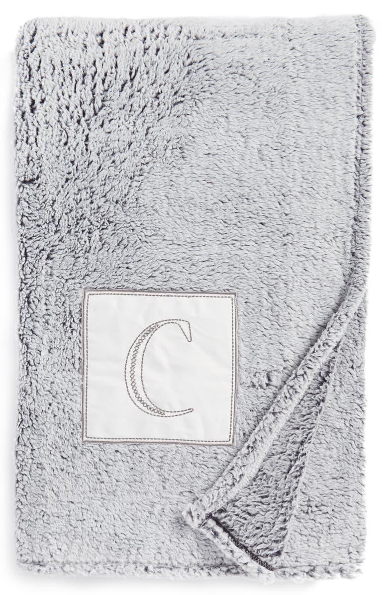 levtex frosted monogram throw blanket nordstrom
