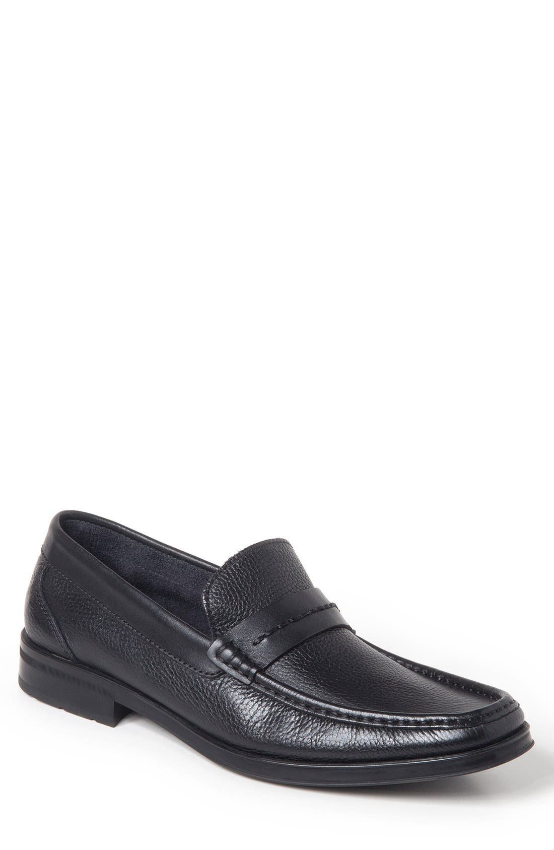 Duero Loafer,                             Main thumbnail 1, color,                             BLACK LEATHER