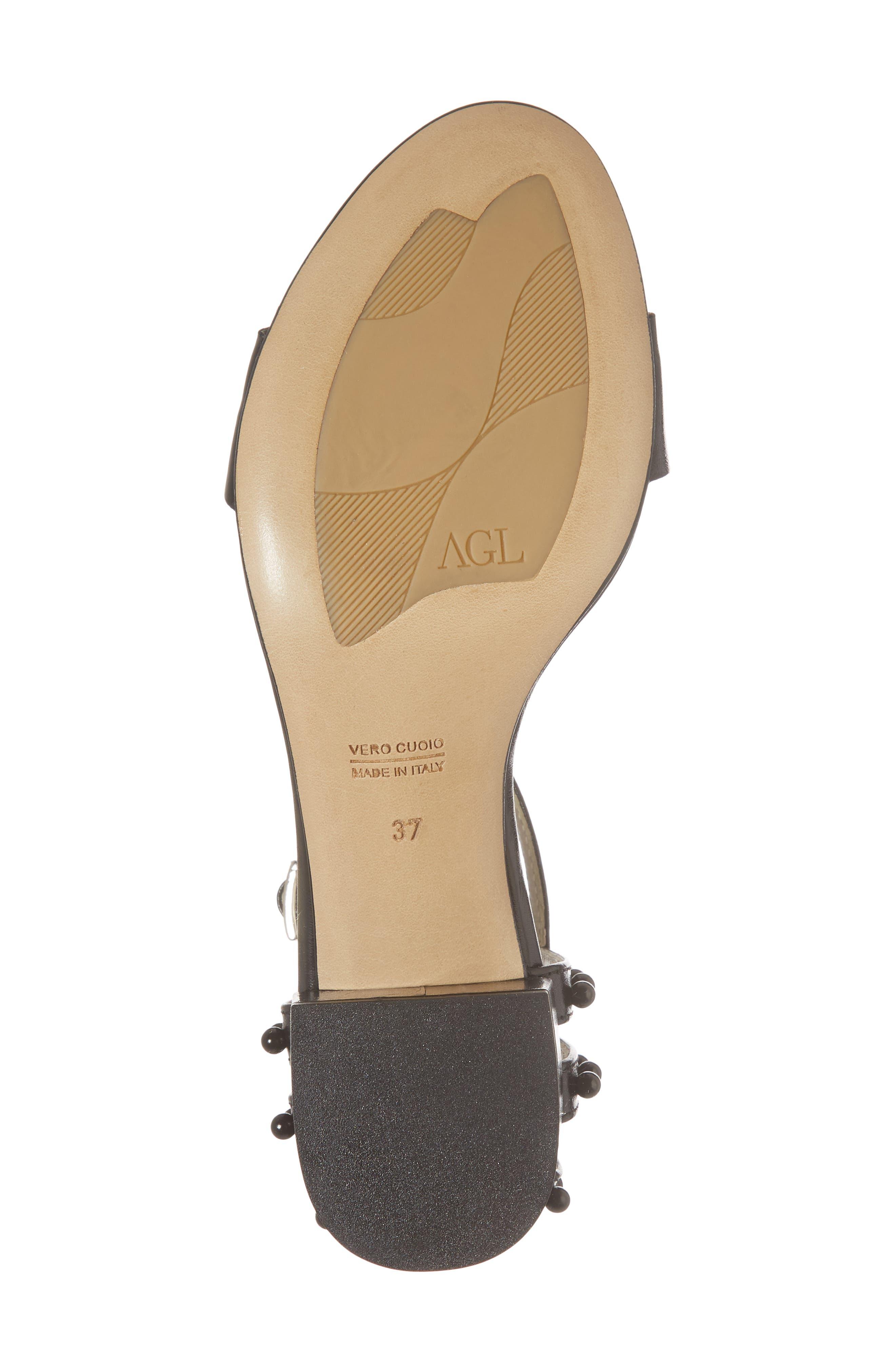 Embellished Ankle Strap Sandal,                             Alternate thumbnail 6, color,                             001