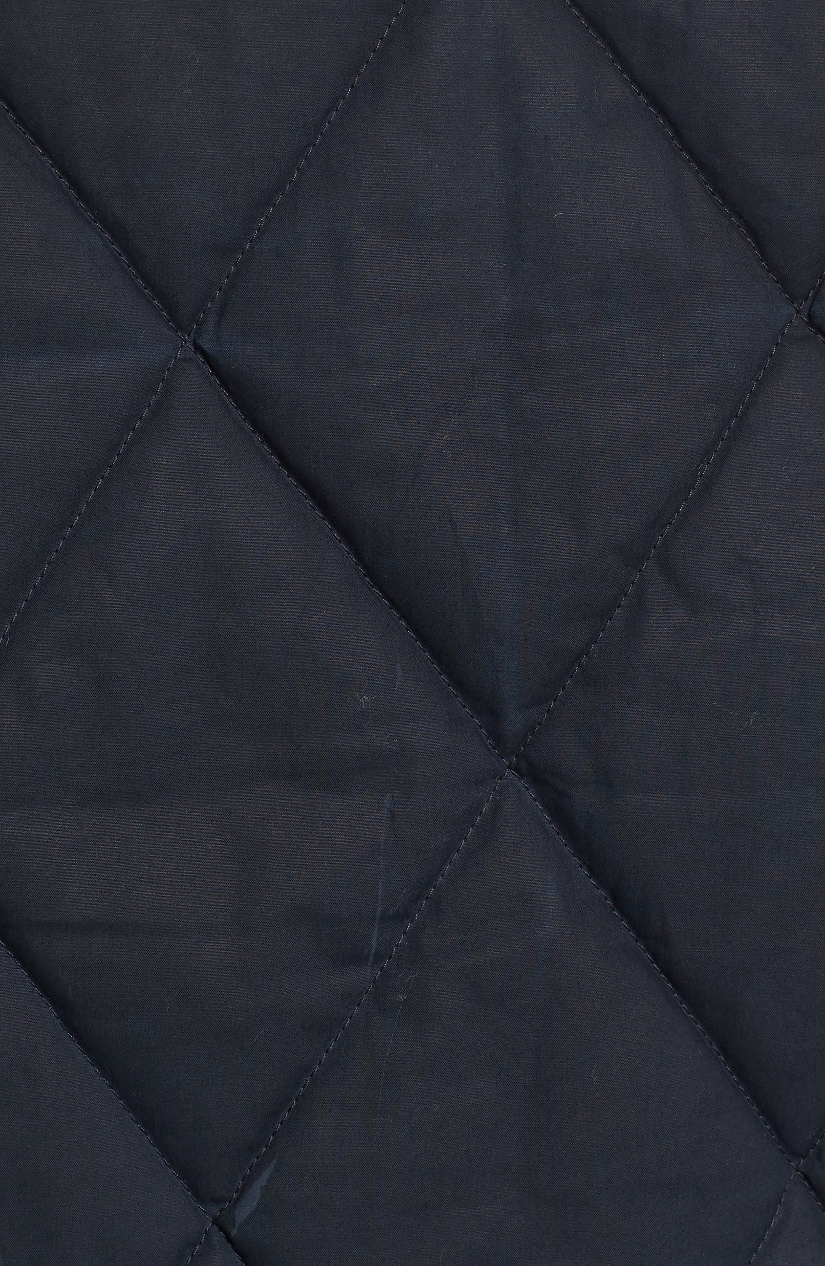 Hyder Quilted Water-Repellent Shirt Jacket,                             Alternate thumbnail 6, color,                             FADED NAVY