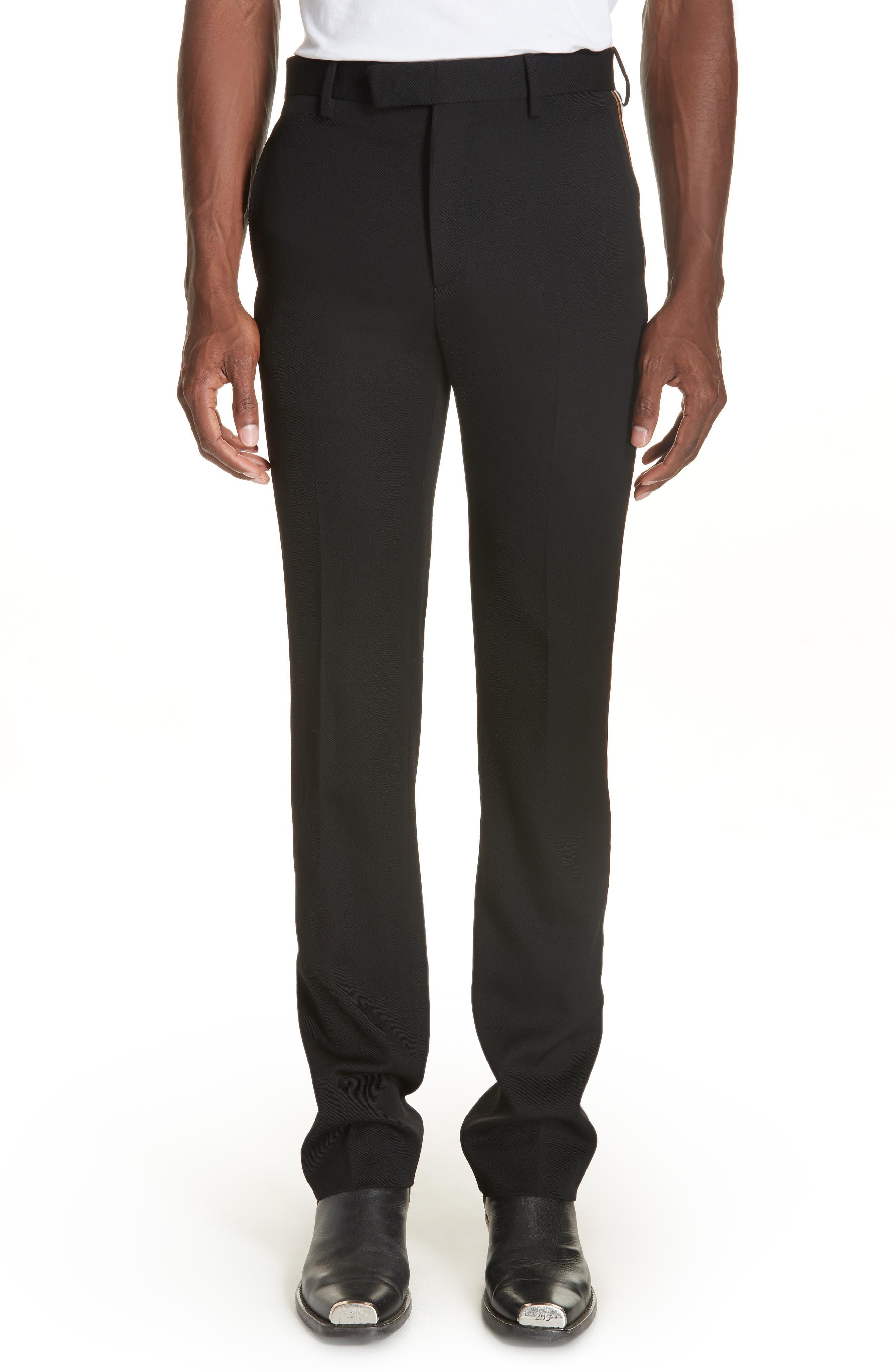 CALVIN KLEIN 205W39NYC Uniform Stripe Trousers, Main, color, 060