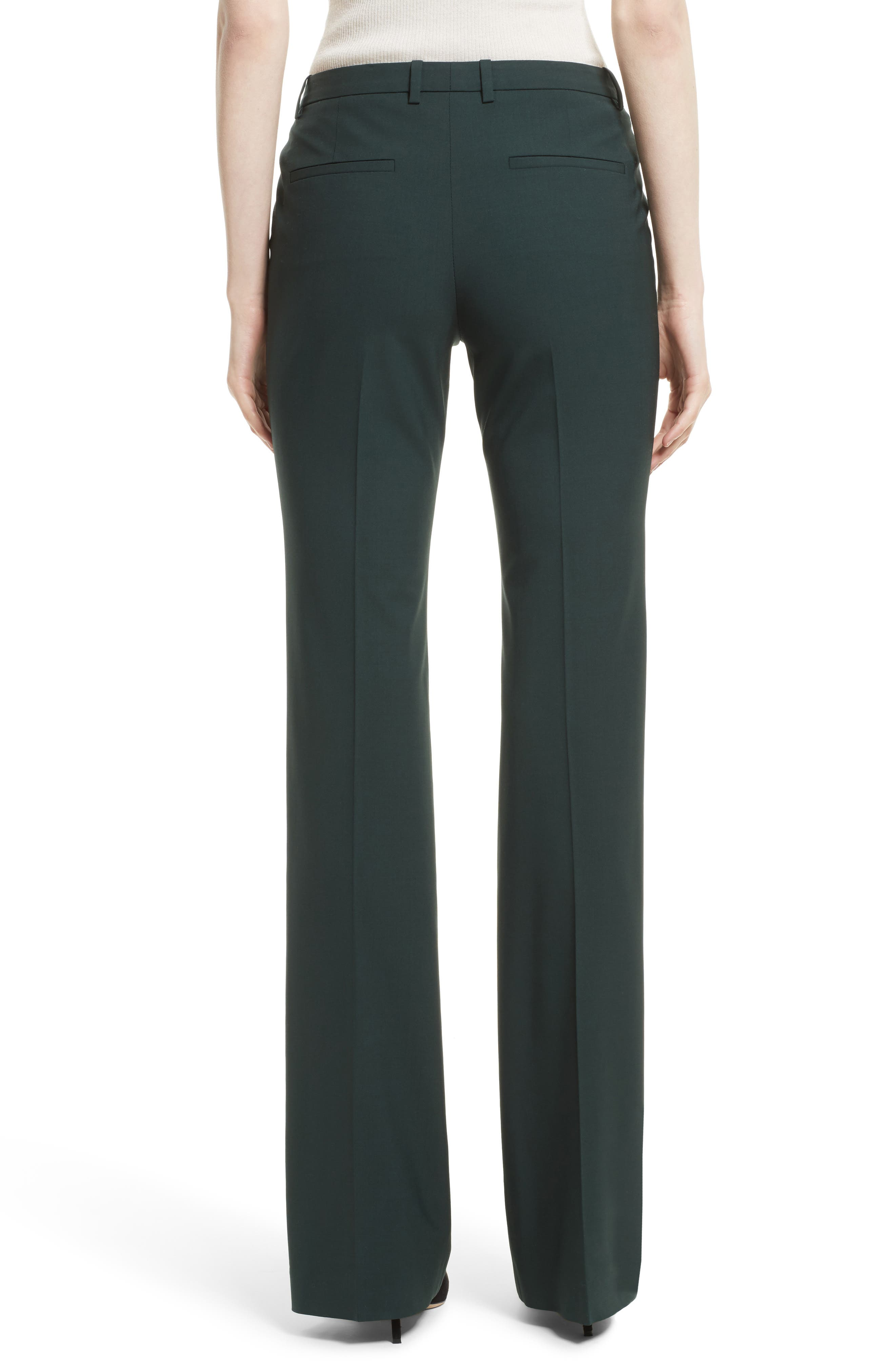 Demitria 2 Flare Leg Stretch Wool Pants,                             Alternate thumbnail 2, color,                             392