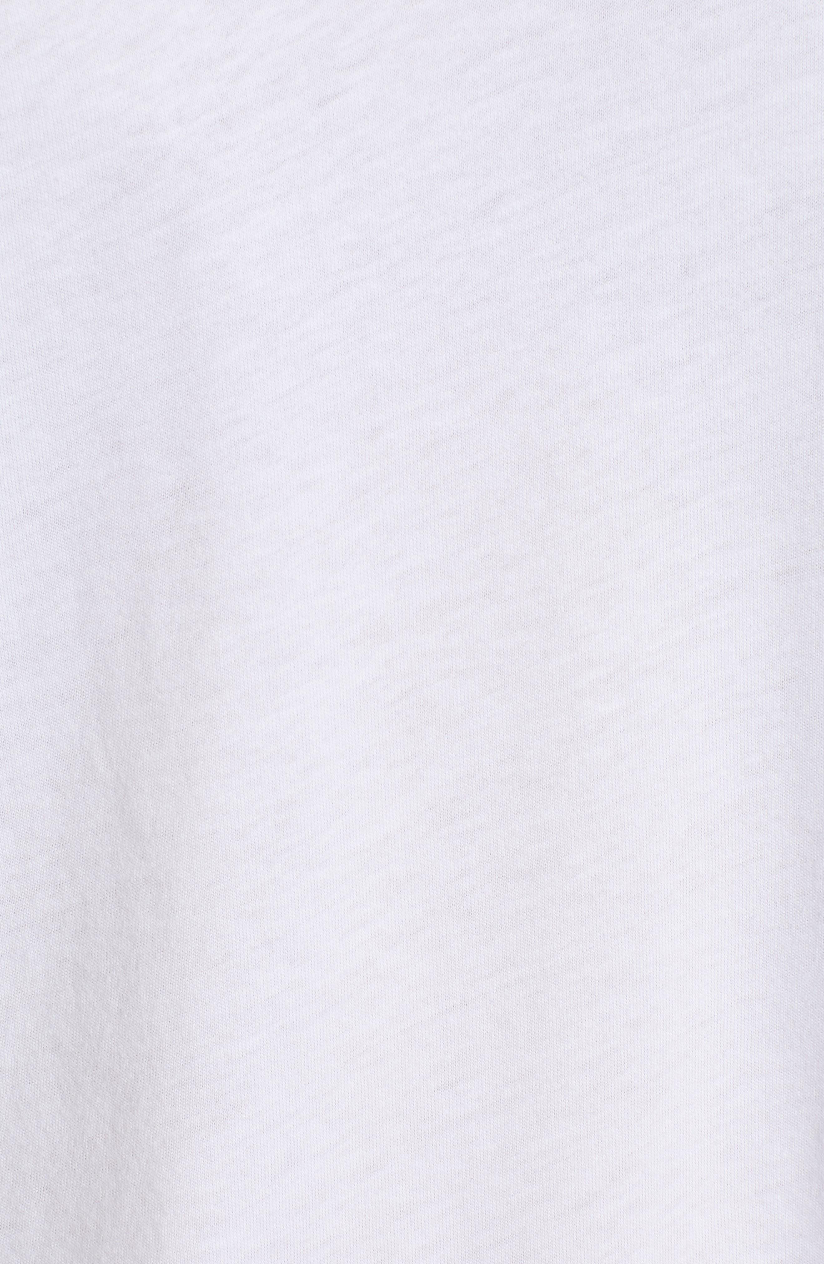 Varsity Stripe Tee,                             Alternate thumbnail 6, color,                             WHITE- RED BAROQUE COMBO