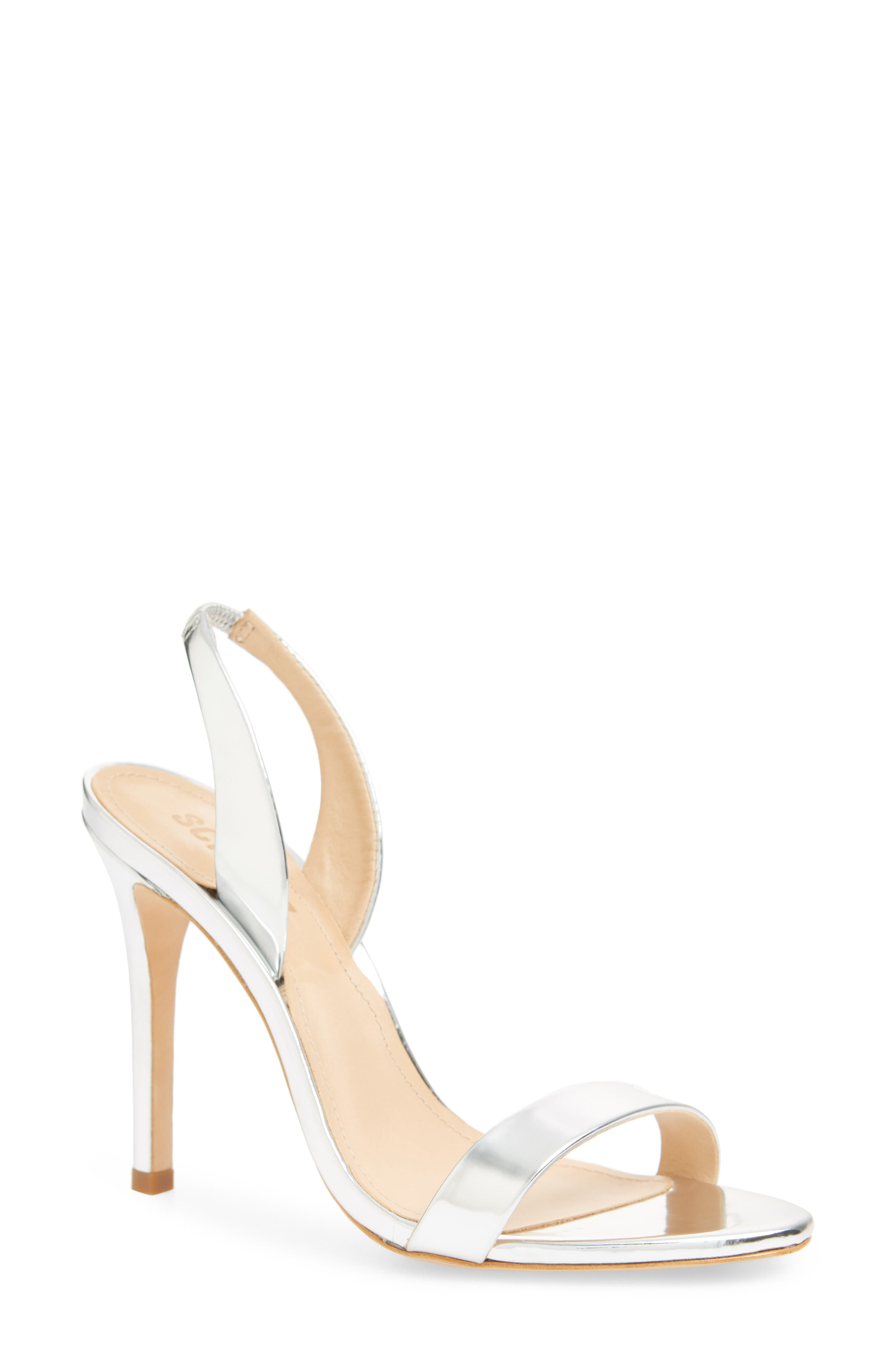 Luriane Sandal,                         Main,                         color, SILVER PATENT LEATHER