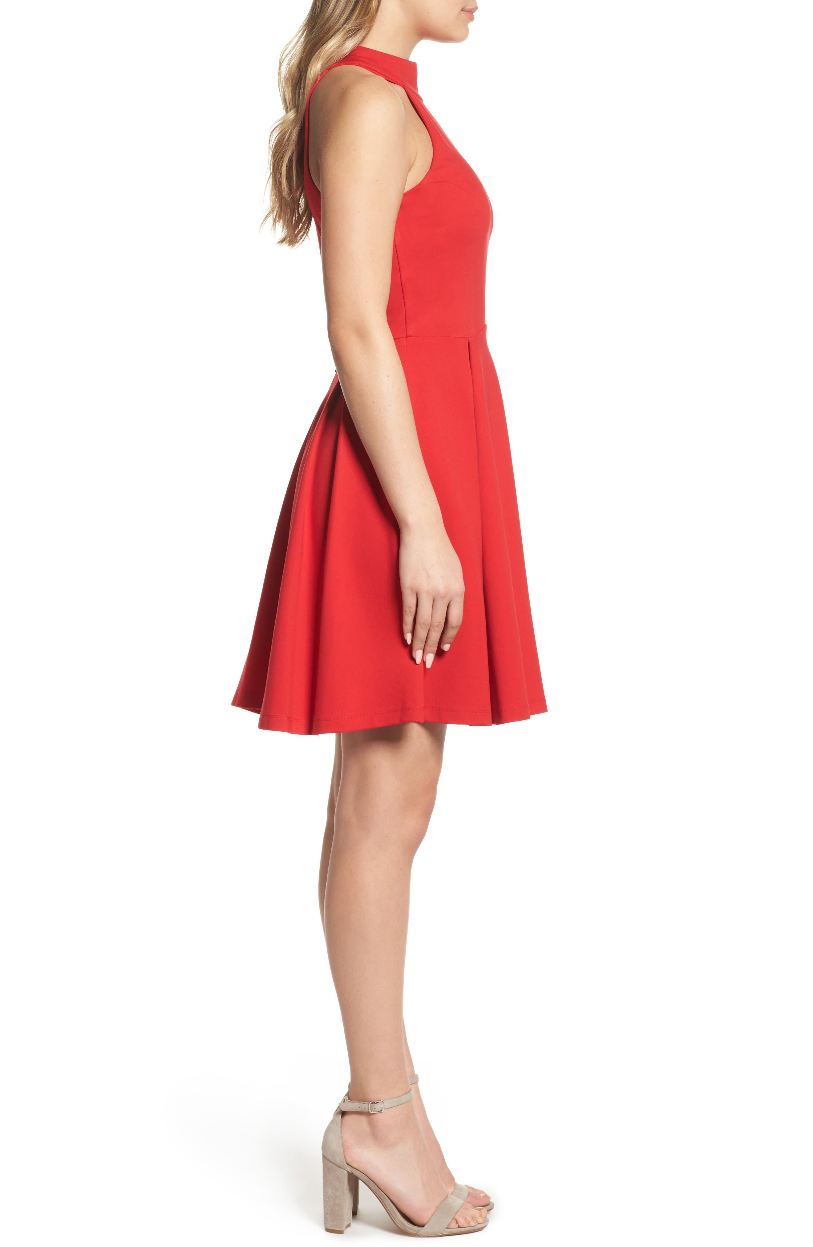 Rosa Fit & Flare Dress,                             Alternate thumbnail 3, color,