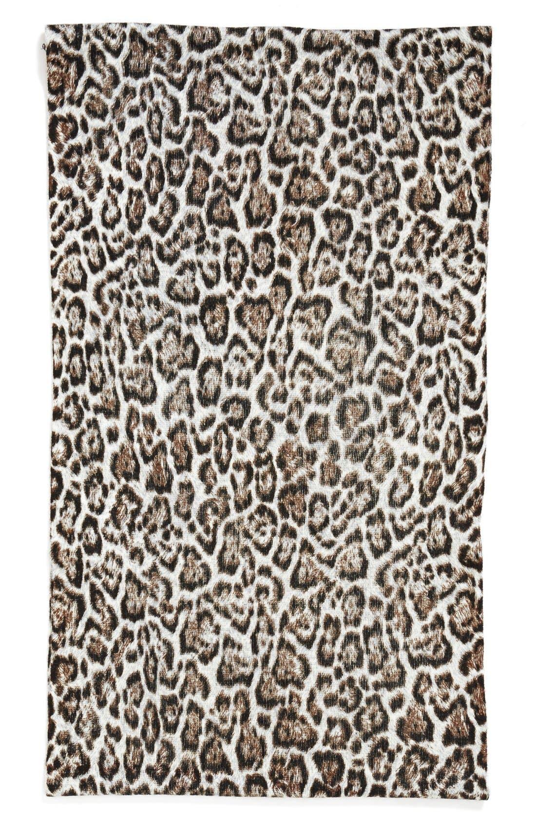 'Mowani' Leopard Print Infinity Scarf,                             Alternate thumbnail 3, color,                             250