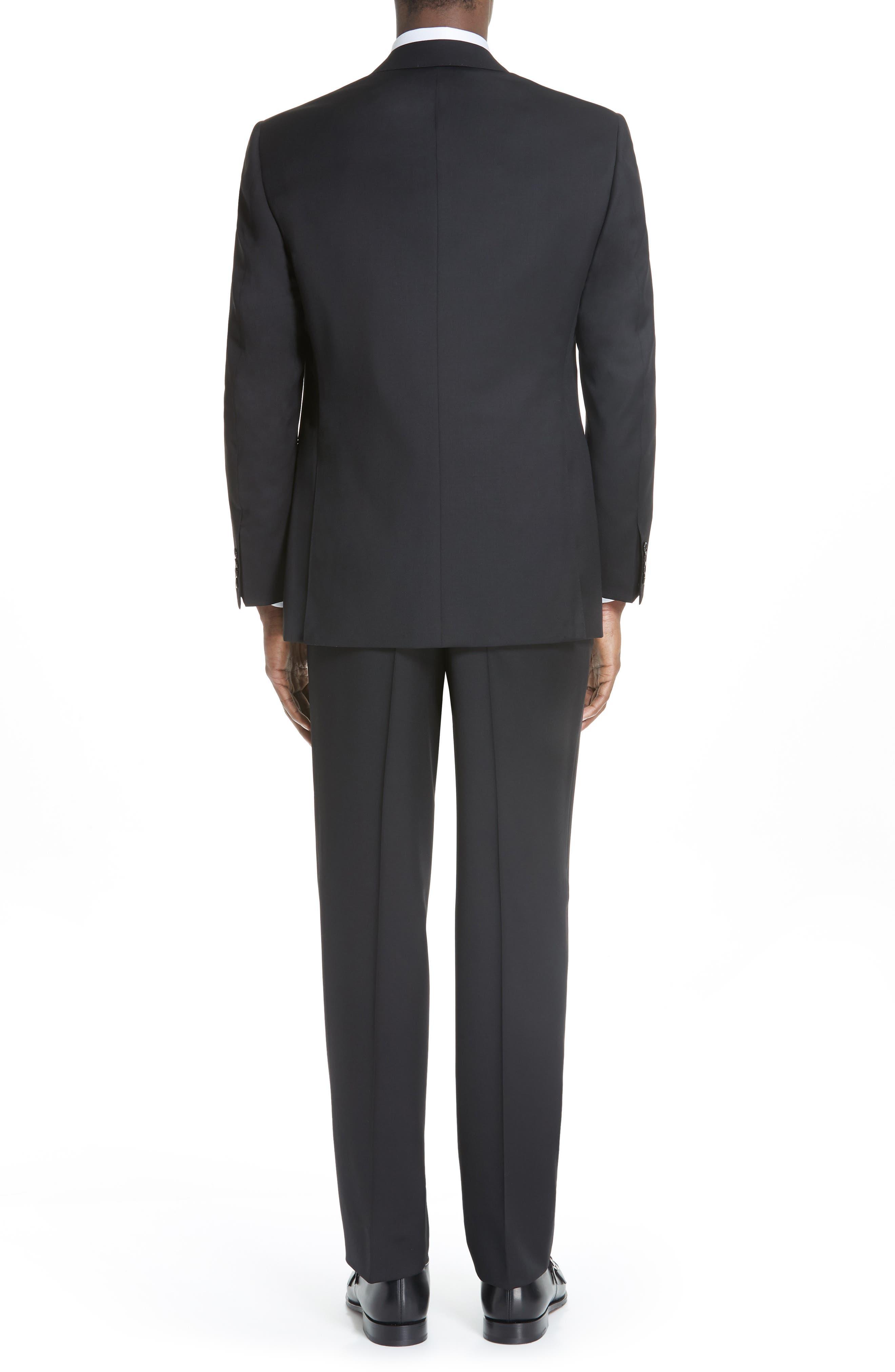 Classic Fit Solid Wool Suit,                             Alternate thumbnail 2, color,                             BLACK