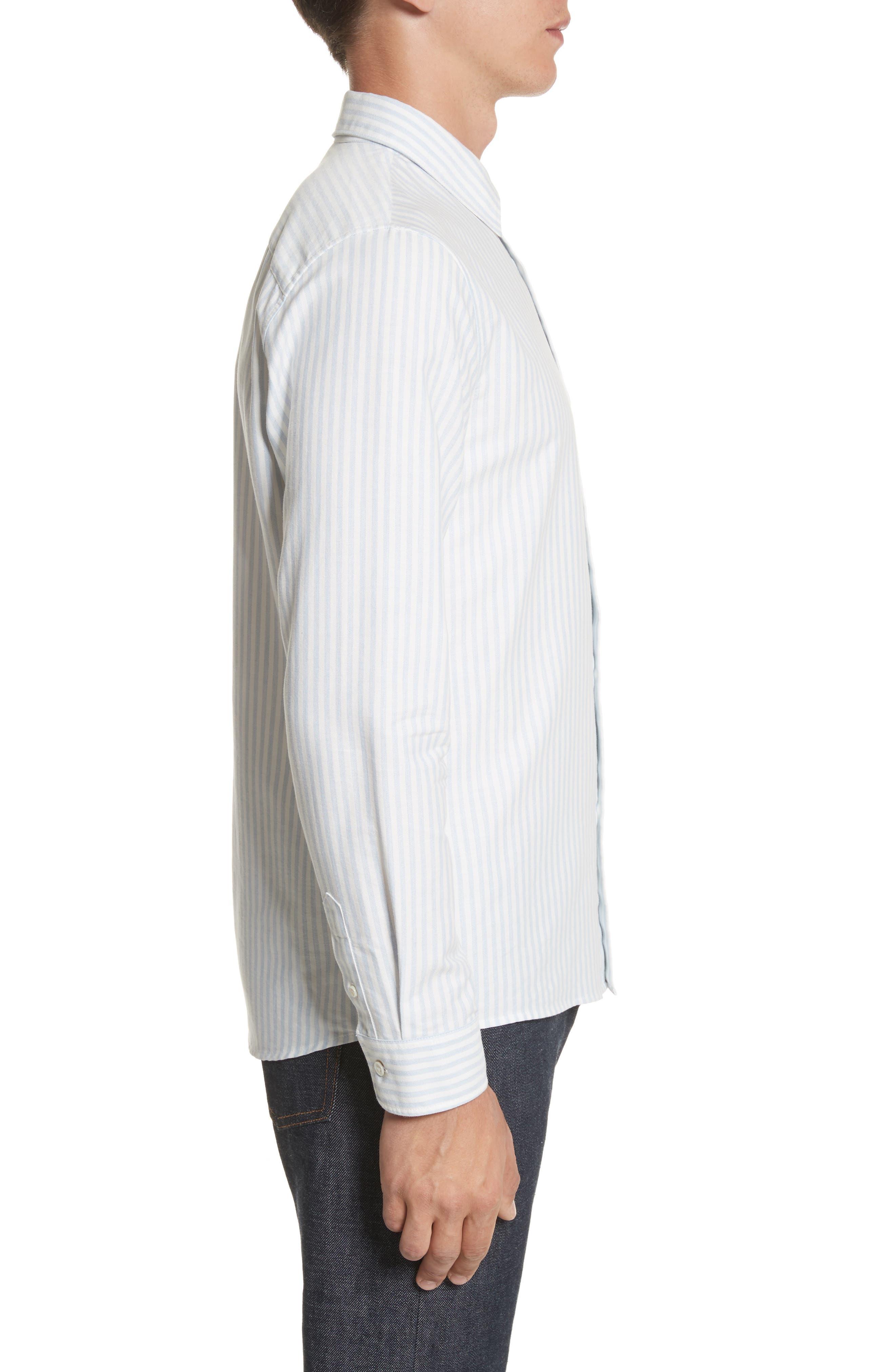Oliver Stripe Oxford Shirt,                             Alternate thumbnail 3, color,                             430
