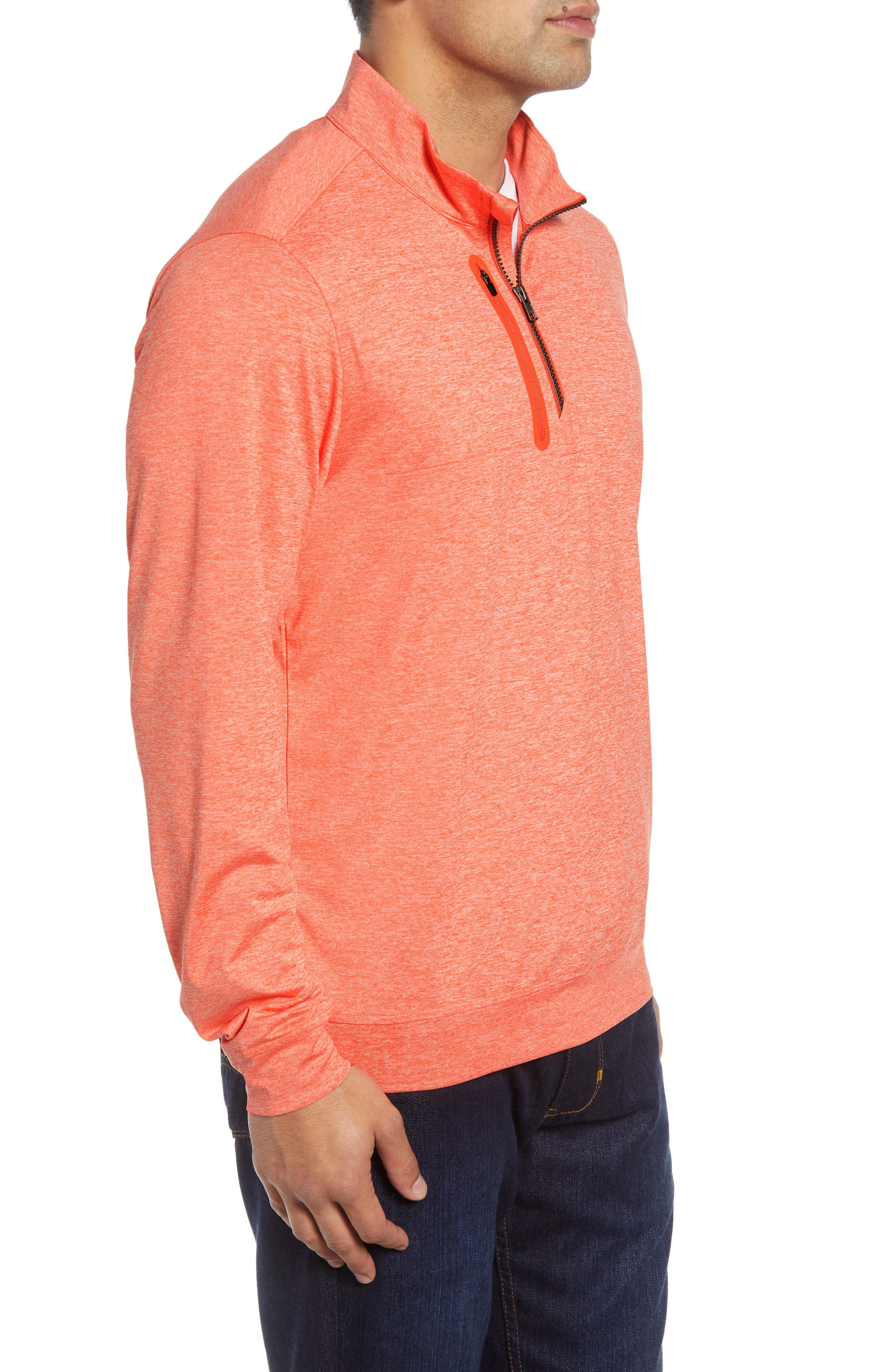 Stealth Half Zip Pullover,                             Alternate thumbnail 3, color,                             ALARM