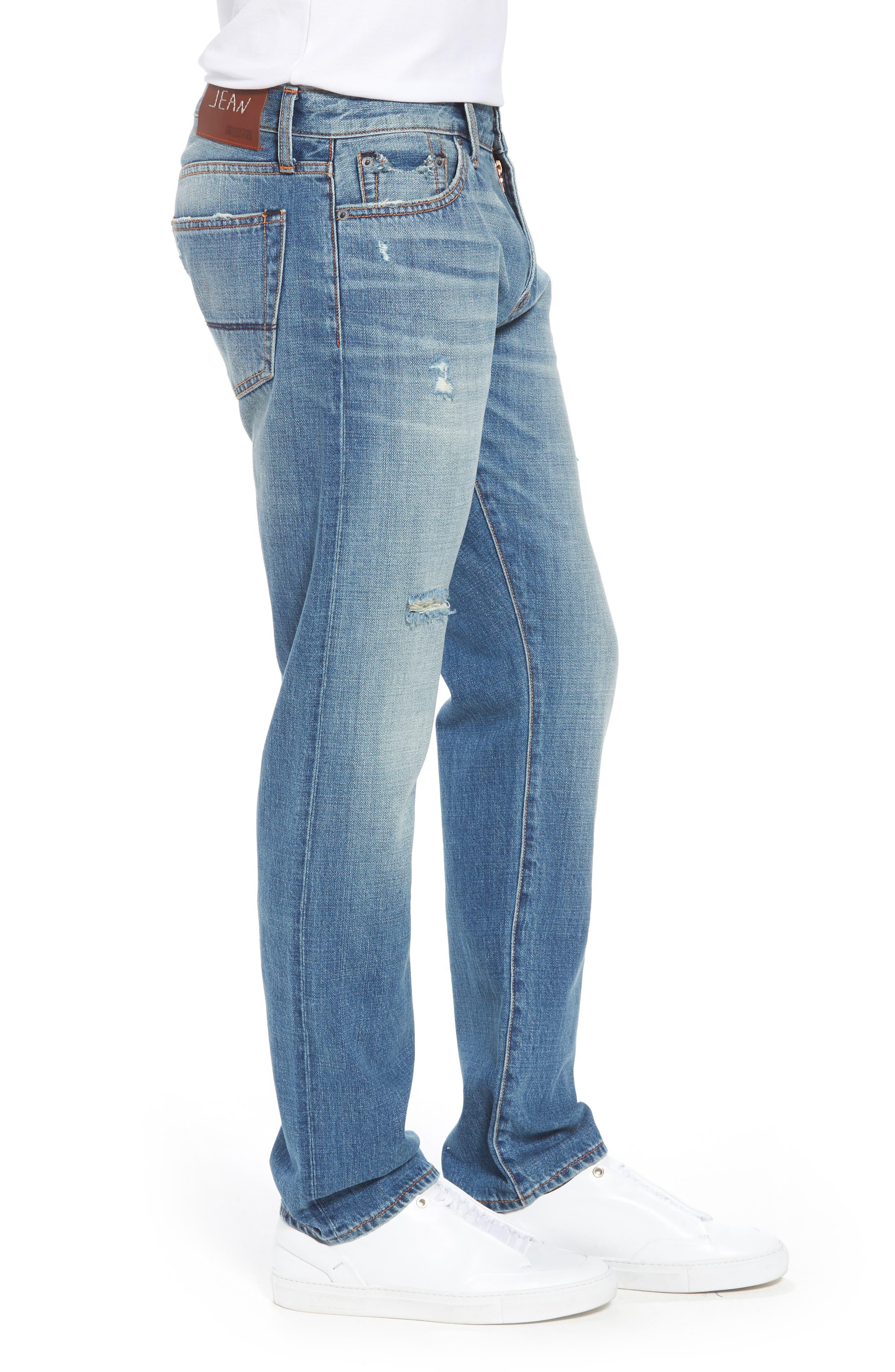 Mick Slim Straight Leg Jeans,                             Alternate thumbnail 3, color,                             400