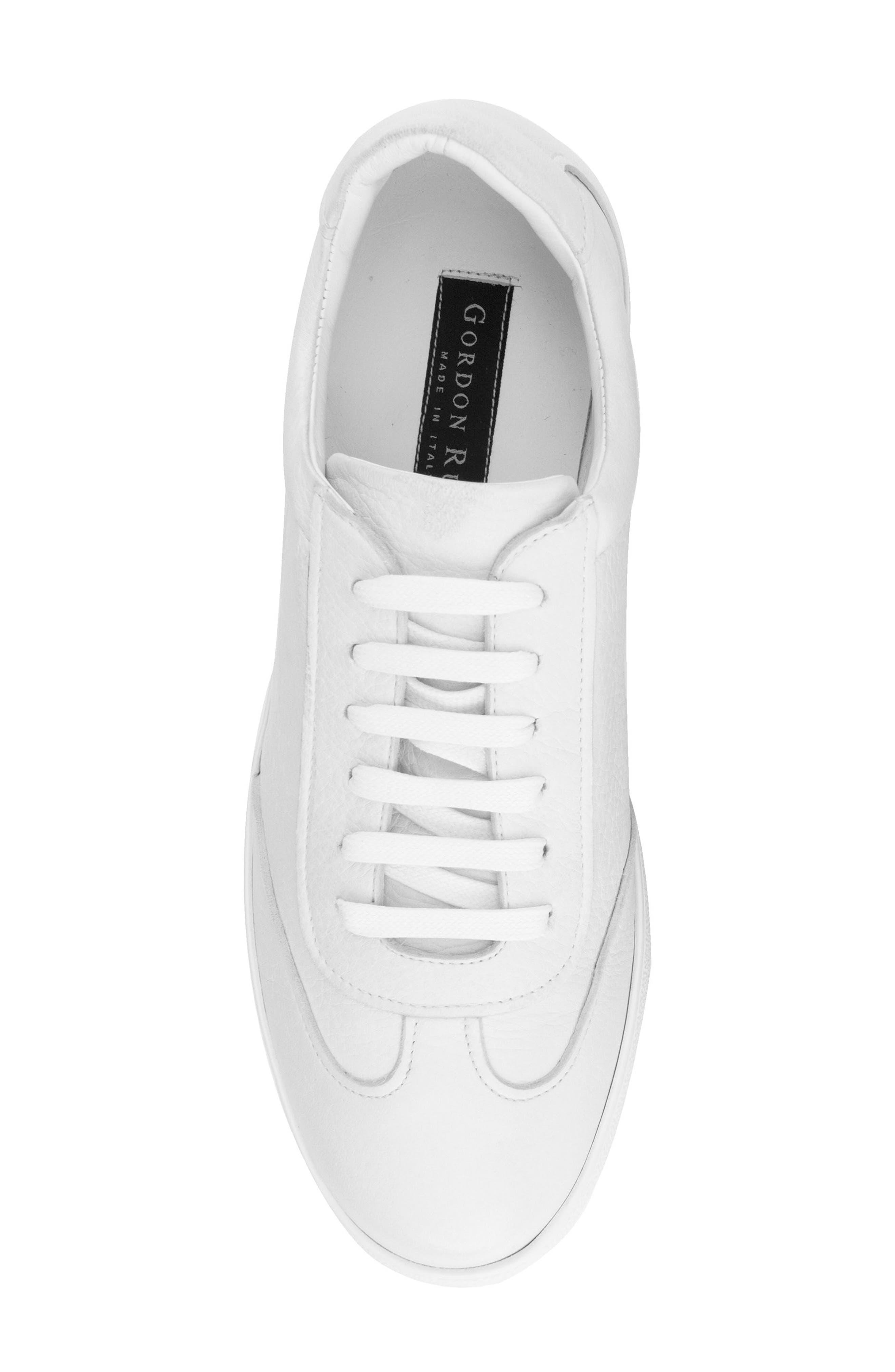 Tristan Sneaker,                             Alternate thumbnail 5, color,                             WHITE LEATHER