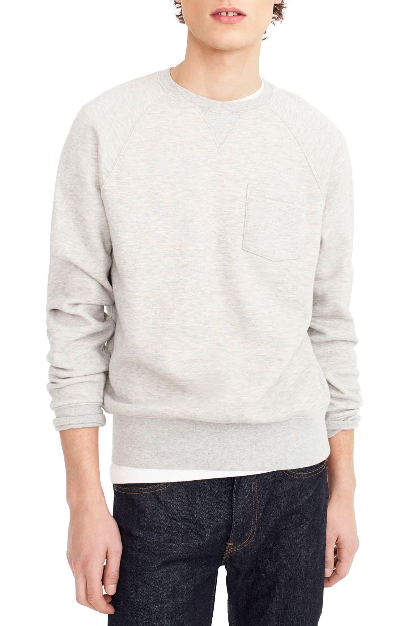 Textured Piqué Fleece Sweatshirt,                             Main thumbnail 1, color,                             020
