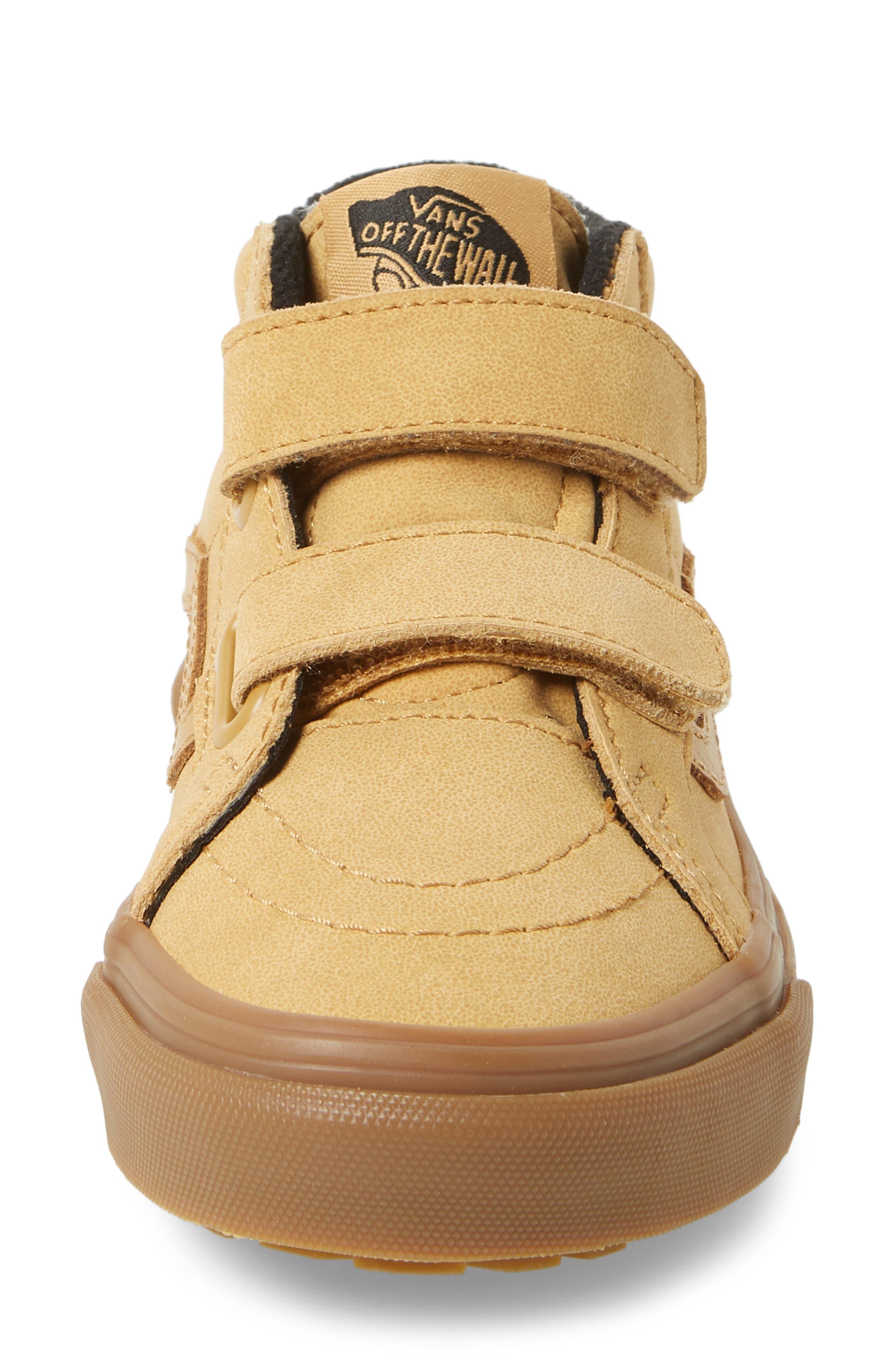 VANS,                             Sk8-Mid Reissue V Sneaker,                             Alternate thumbnail 4, color,                             VANSBUCK/ APPLE CINNAMON