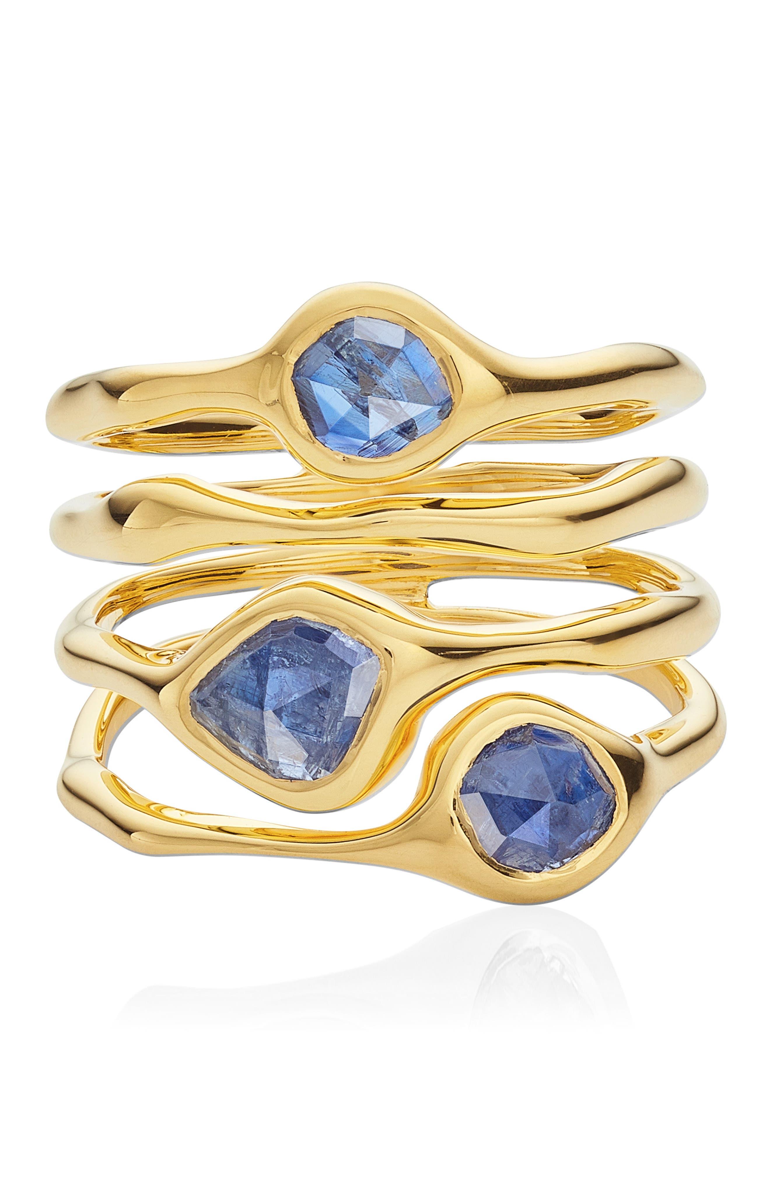 Siren Cluster Cocktail Ring,                             Alternate thumbnail 3, color,                             GOLD/ KYANITE