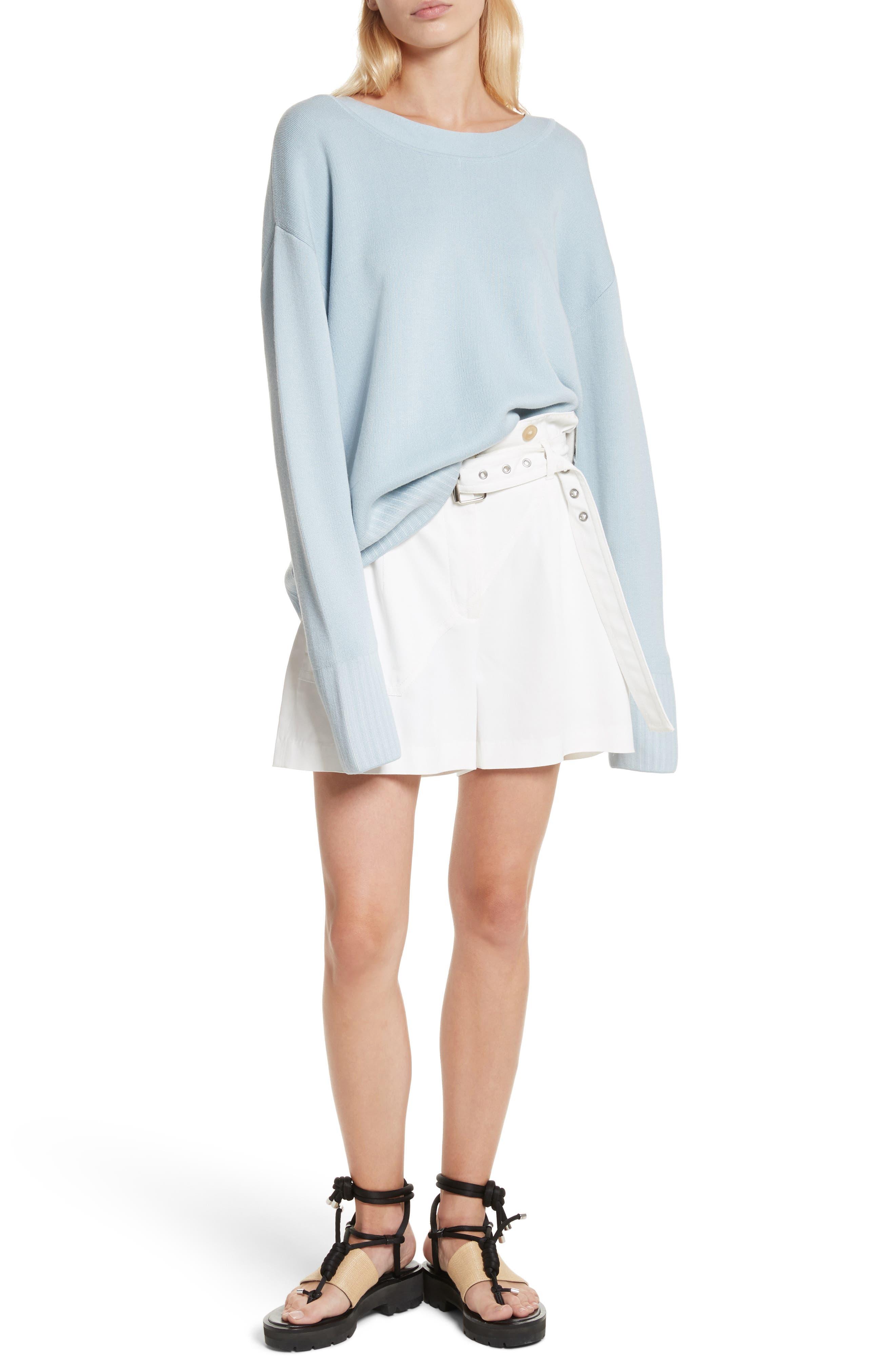 Silk & Cotton Blend Sweater,                             Alternate thumbnail 7, color,                             450