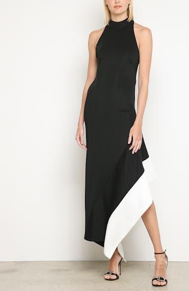 Colorblock Asymmetrical Gown, video thumbnail