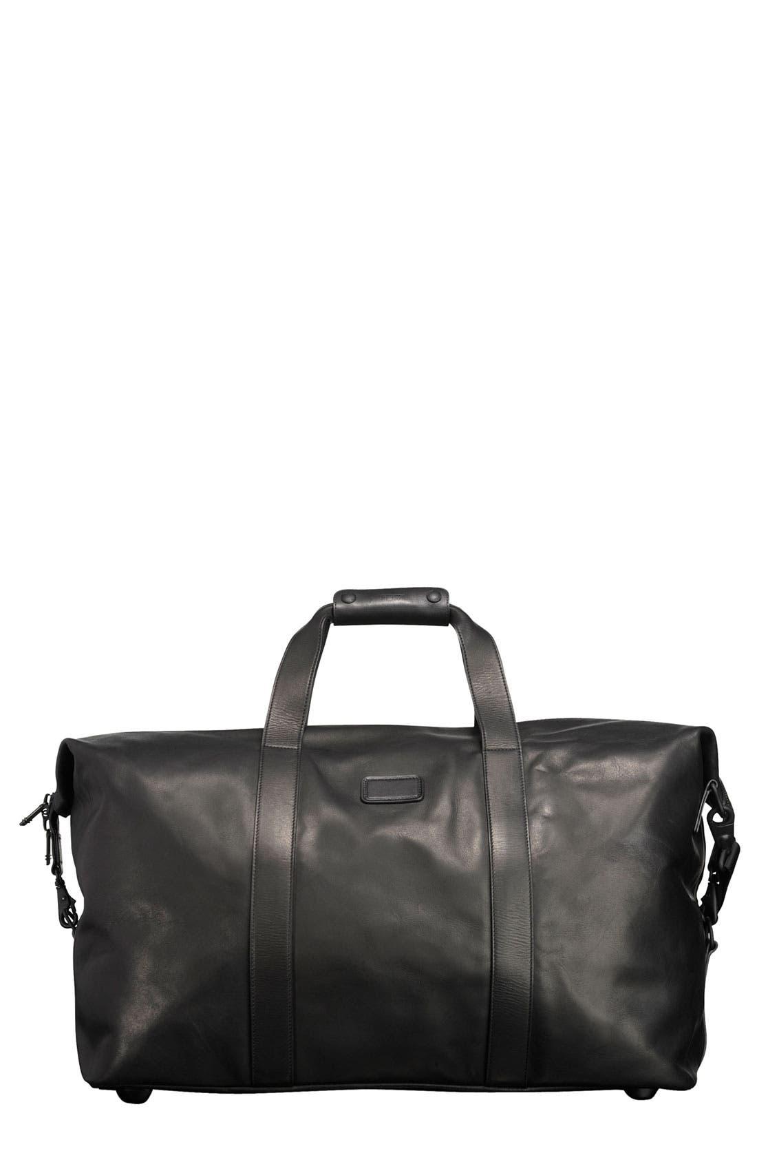 'Large' Leather Travel Satchel,                             Main thumbnail 1, color,                             001