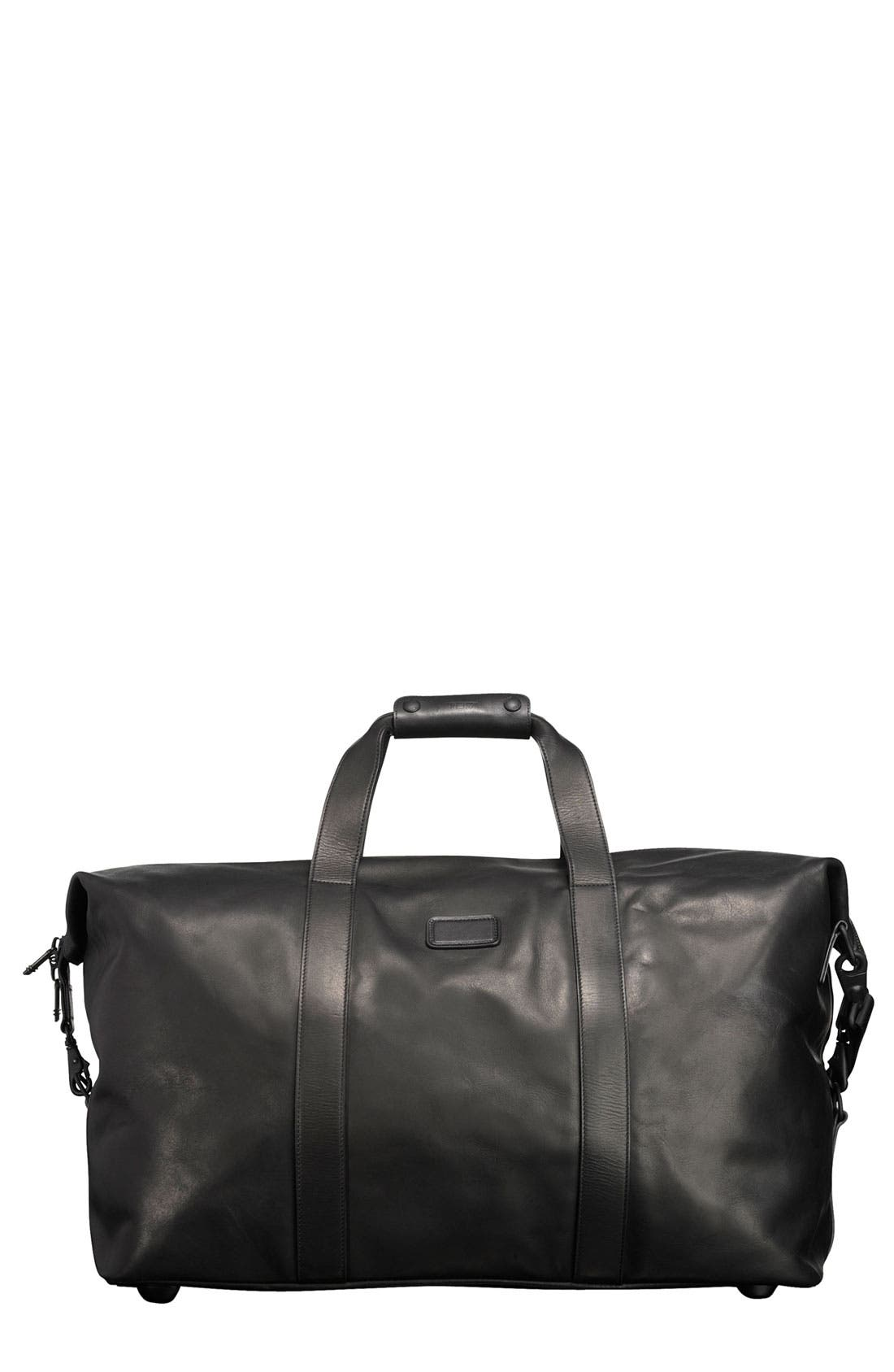 'Large' Leather Travel Satchel,                         Main,                         color, 001