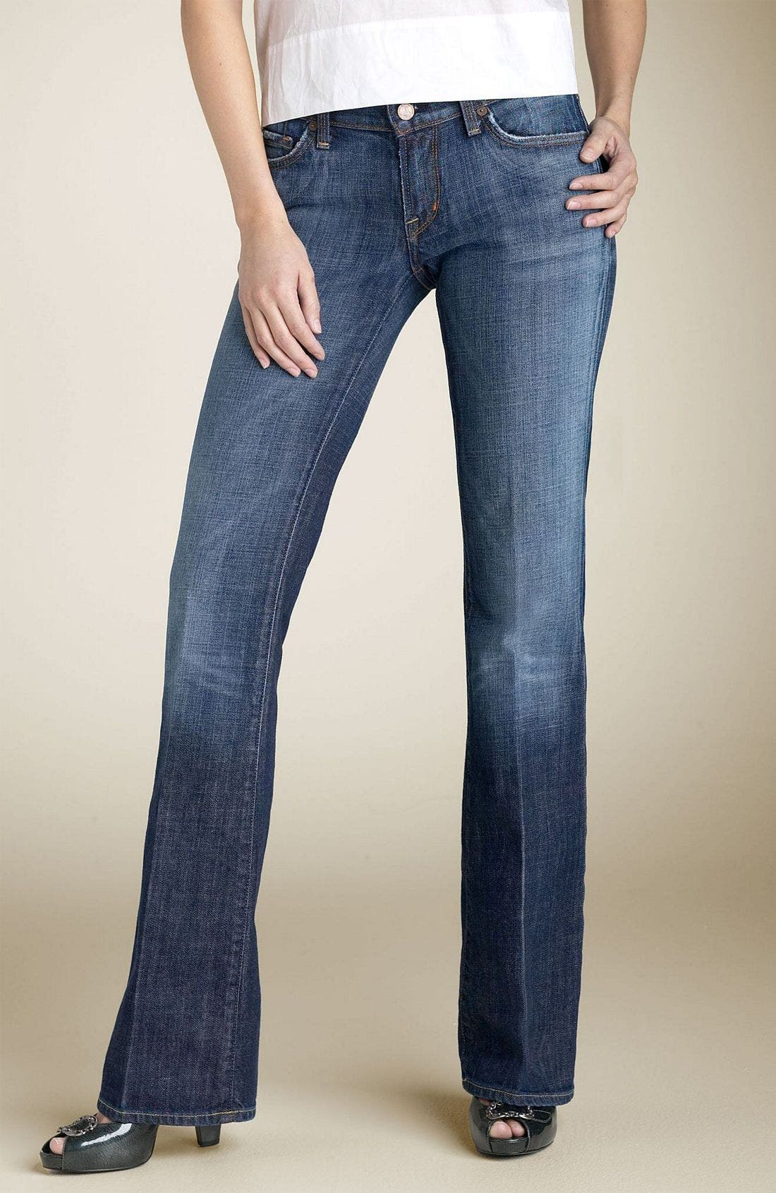 'Dita' Bootcut Stretch Jeans, Main, color, 404