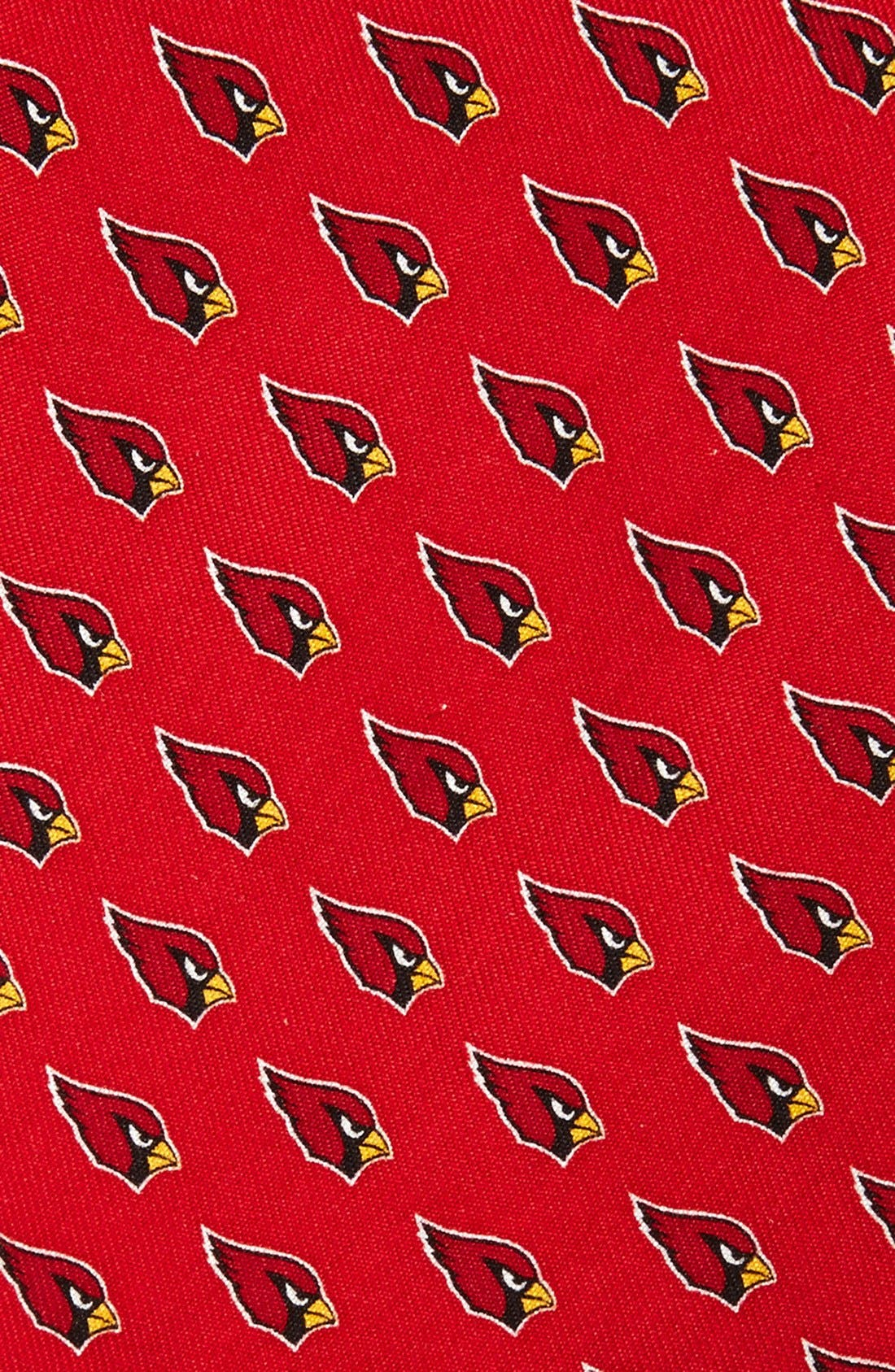 Arizona Cardinals - NFL Woven Silk Tie,                             Alternate thumbnail 2, color,                             RED