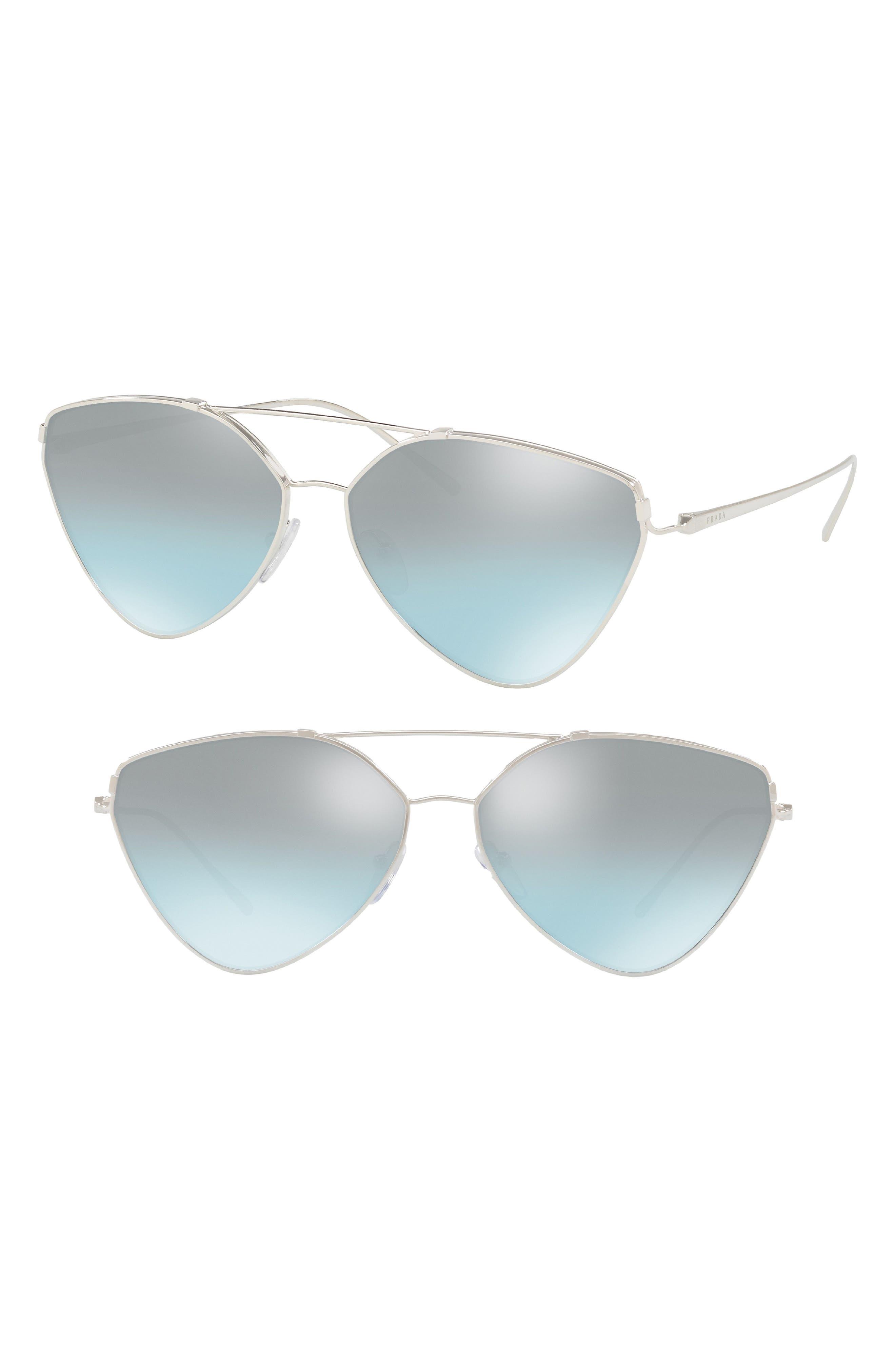 62mm Oversize Aviator Sunglasses,                             Alternate thumbnail 2, color,