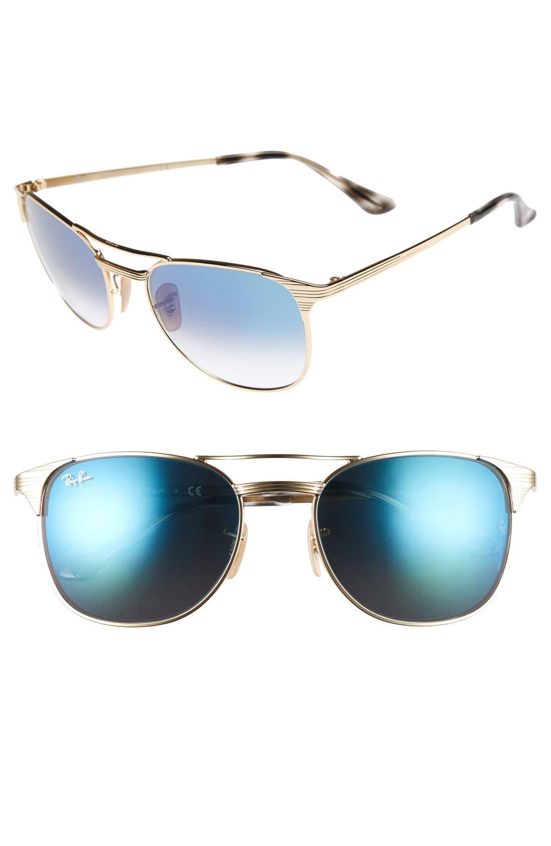 Small Icons 55mm Retro Sunglasses,                             Main thumbnail 3, color,