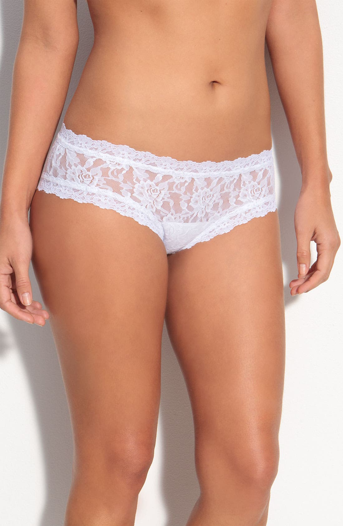 'Bride' Lace Hipster Panties,                             Alternate thumbnail 3, color,                             WHITE