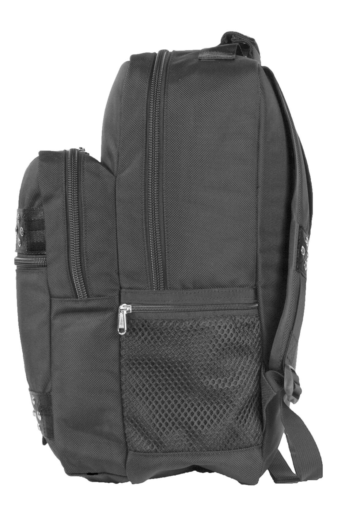 'TRS Ballistic - Executive' Backpack,                             Alternate thumbnail 3, color,                             BLACK/ BLACK