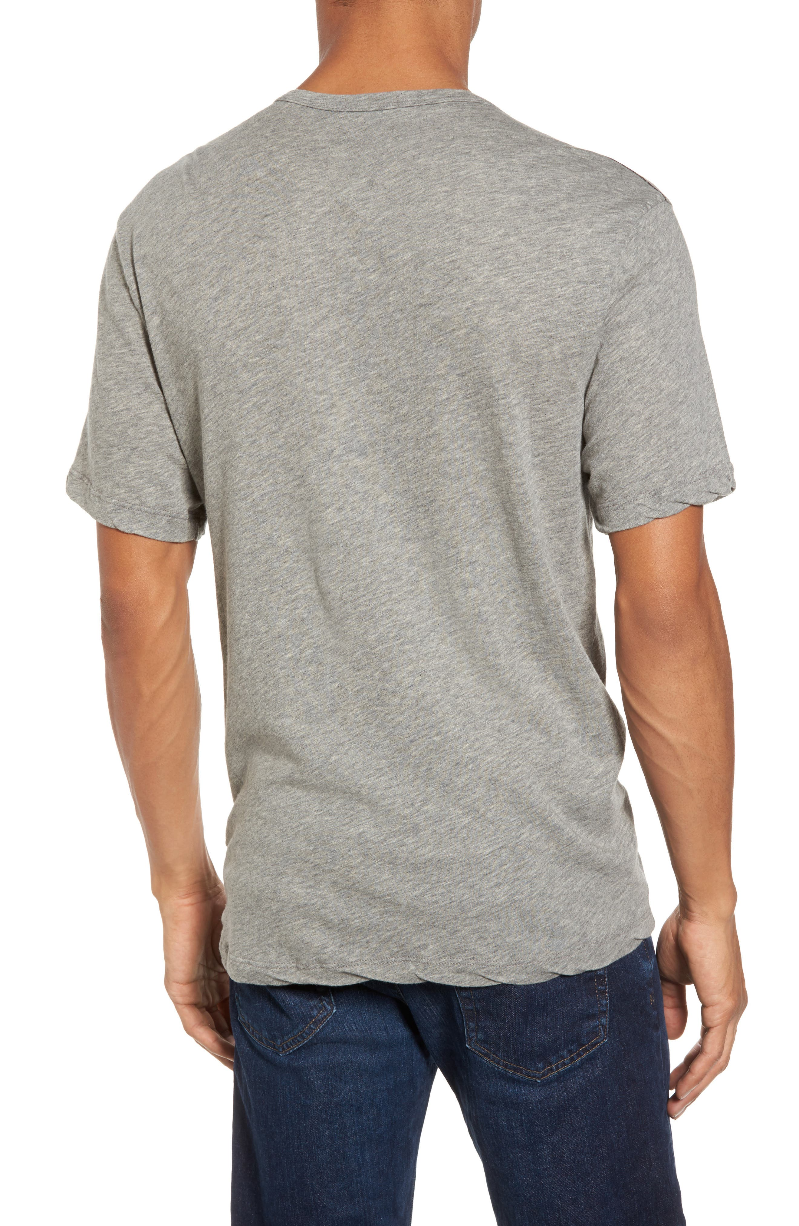 Contrast Stitch Henley T-Shirt,                             Alternate thumbnail 3, color,