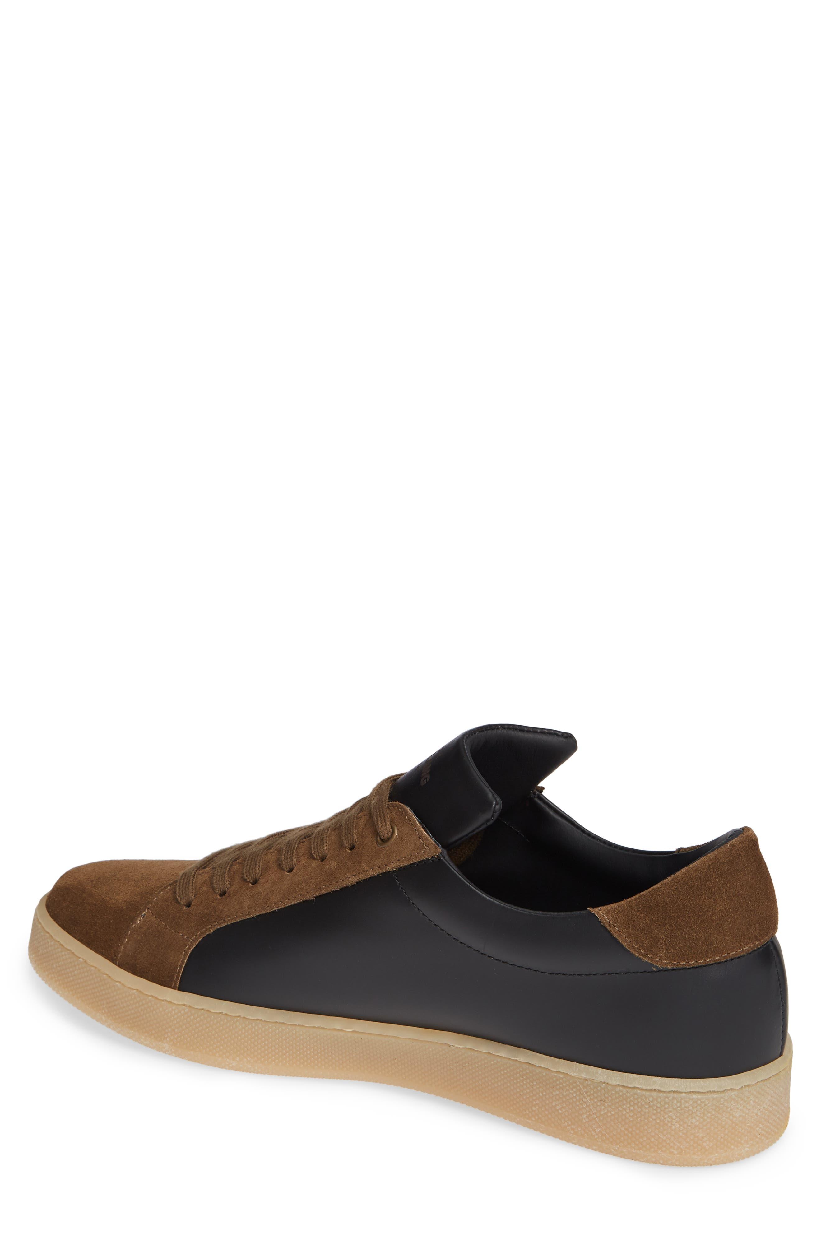 Rome Sneaker,                             Alternate thumbnail 2, color,                             BLACK/ GEIGE