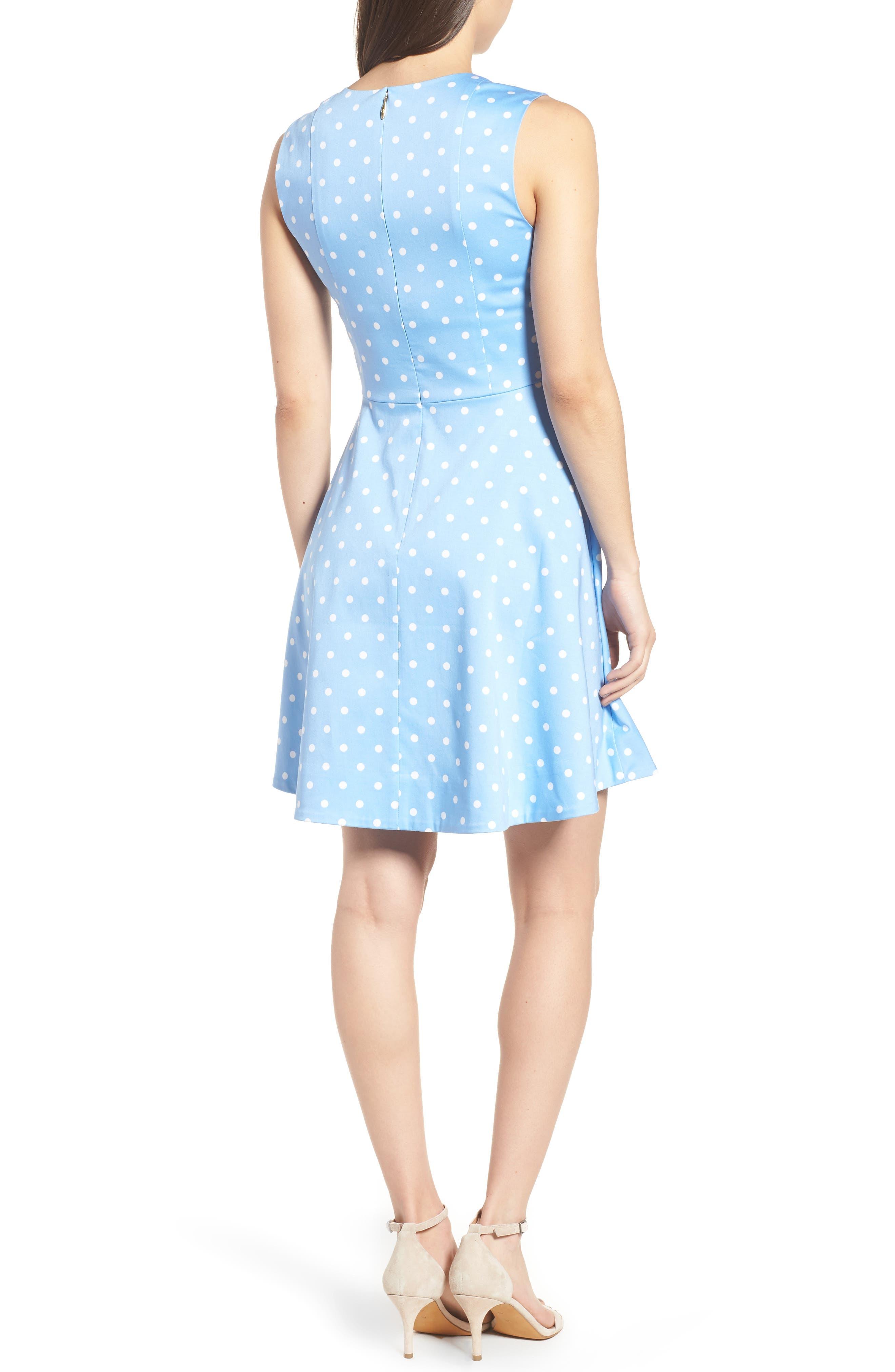 Dot Crew Love Circle Stretch Cotton Dress,                             Alternate thumbnail 2, color,