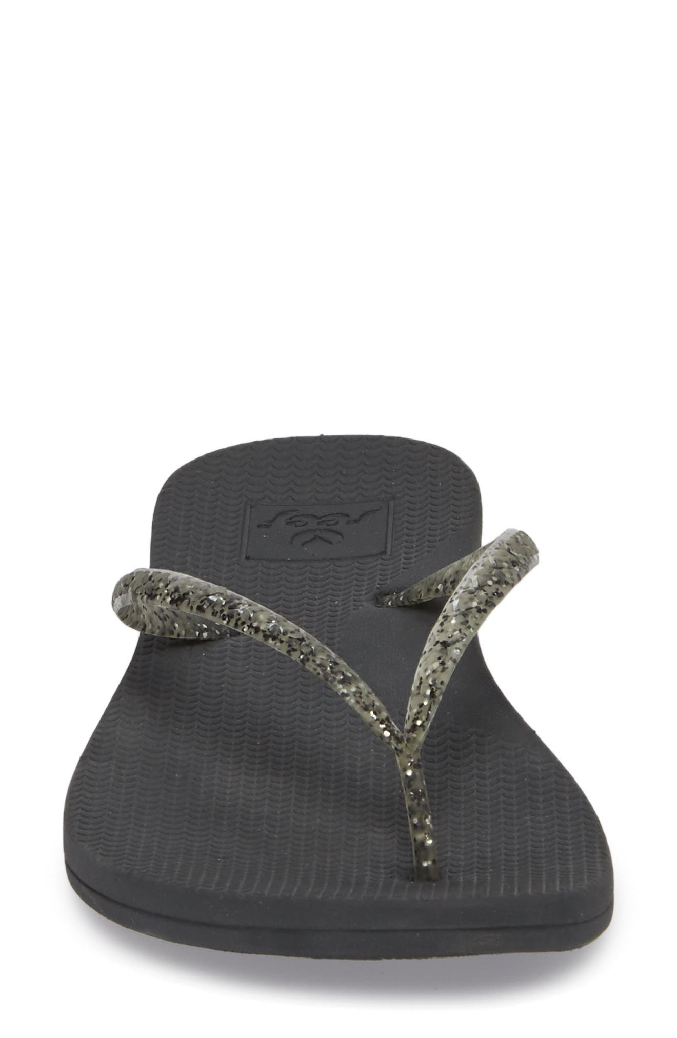 Lux Shimmer Flip Flop,                             Alternate thumbnail 4, color,                             001