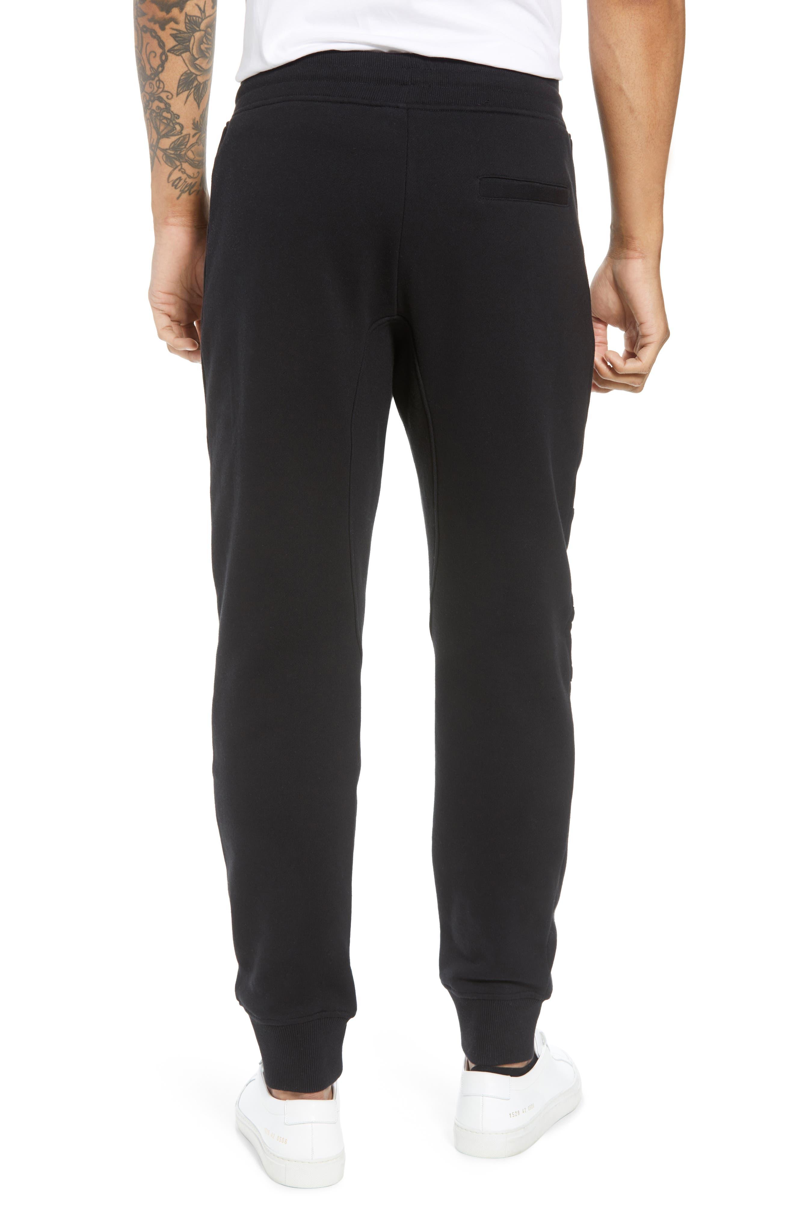 Classic Slim Fit Fleece Joggers,                             Alternate thumbnail 2, color,                             BLACK BLA01